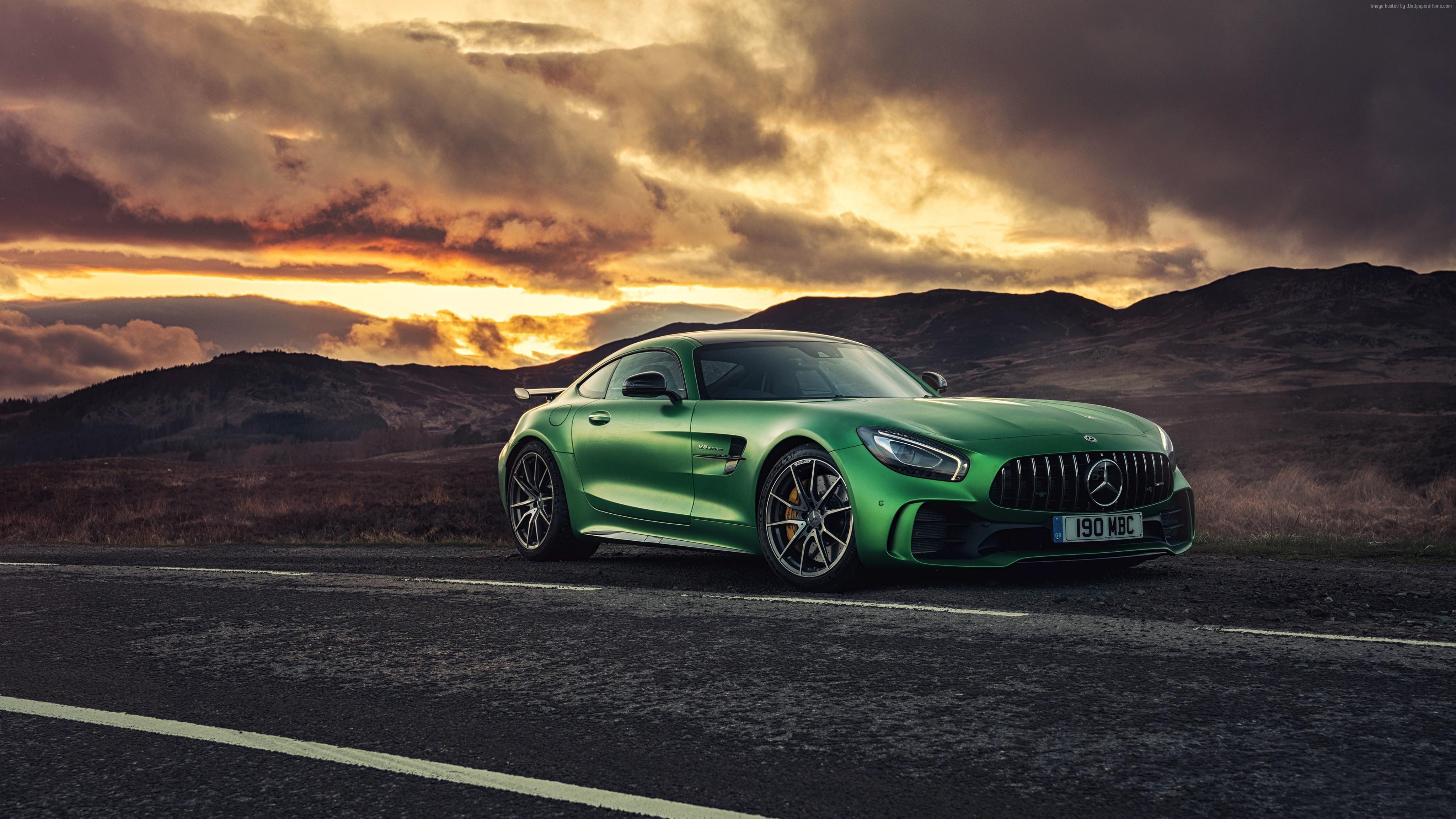 Green Mercedes Benz Amg GT 4k, HD Cars, 4k Wallpapers ...