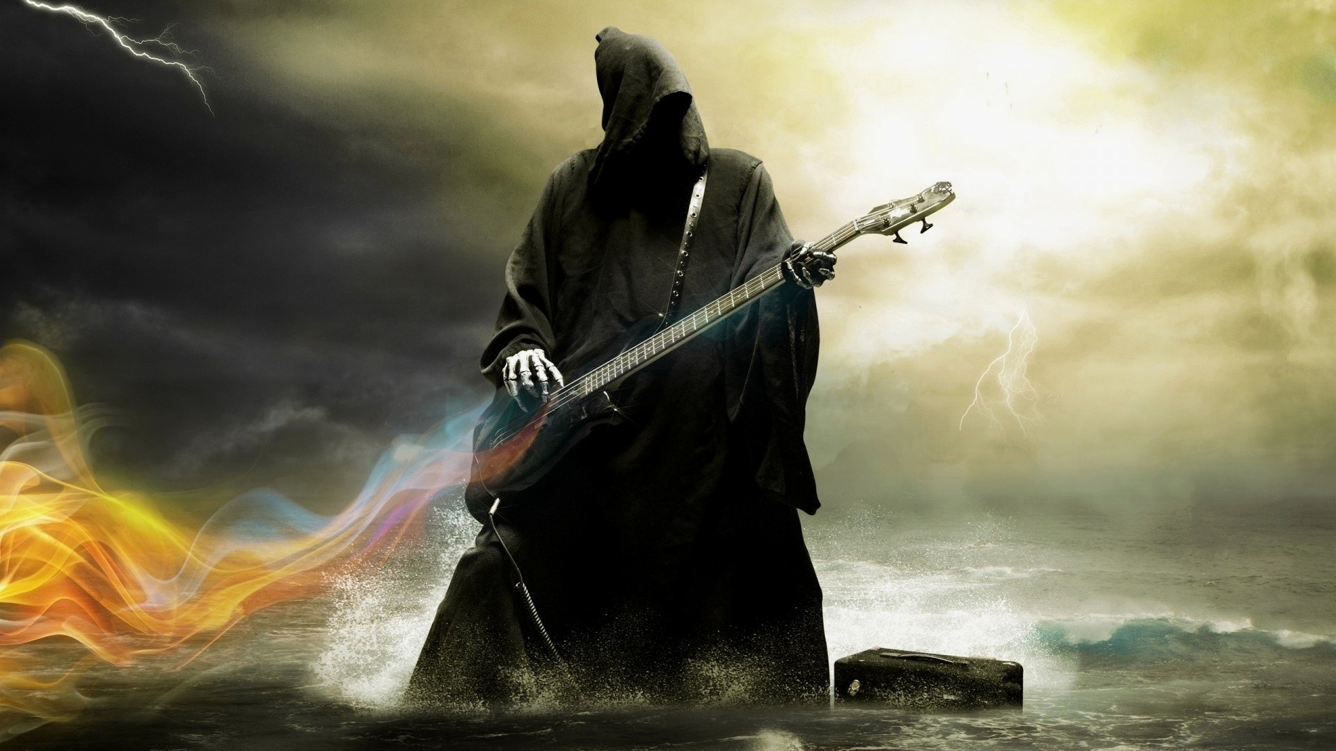 1366x768 Grim Reaper Playing Guitar 1366x768 Resolution Hd 4k Wallpapers Images Backgrounds Photos And Pictures