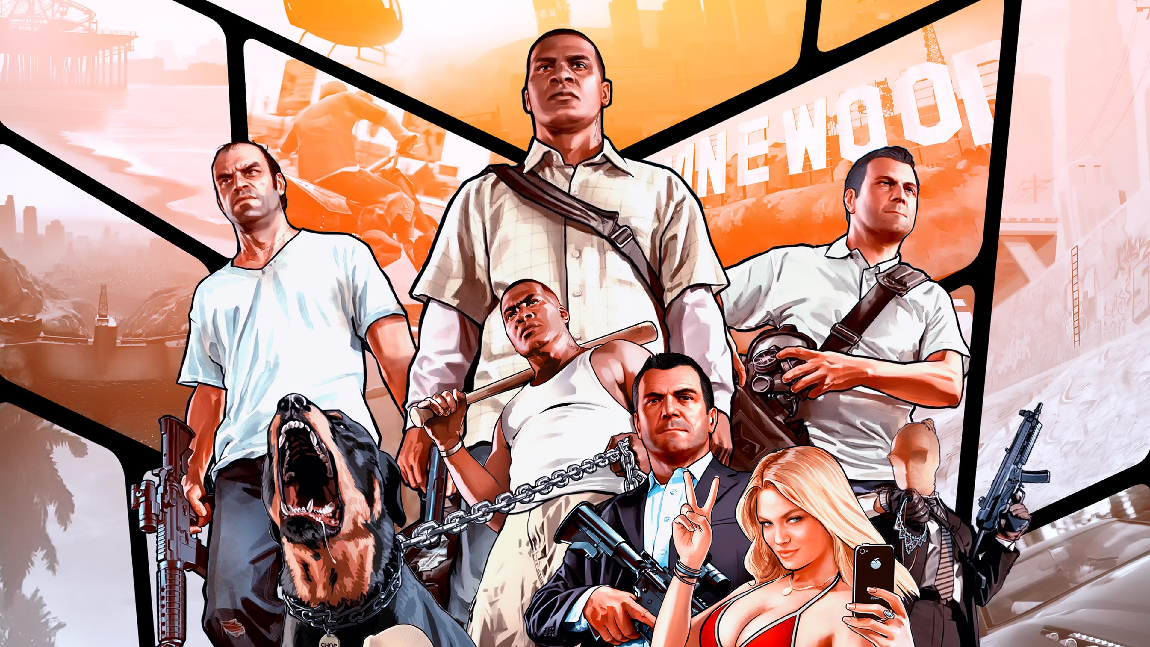 Gta V Poster 4k, HD Games, 4k Wallpapers, Images ...