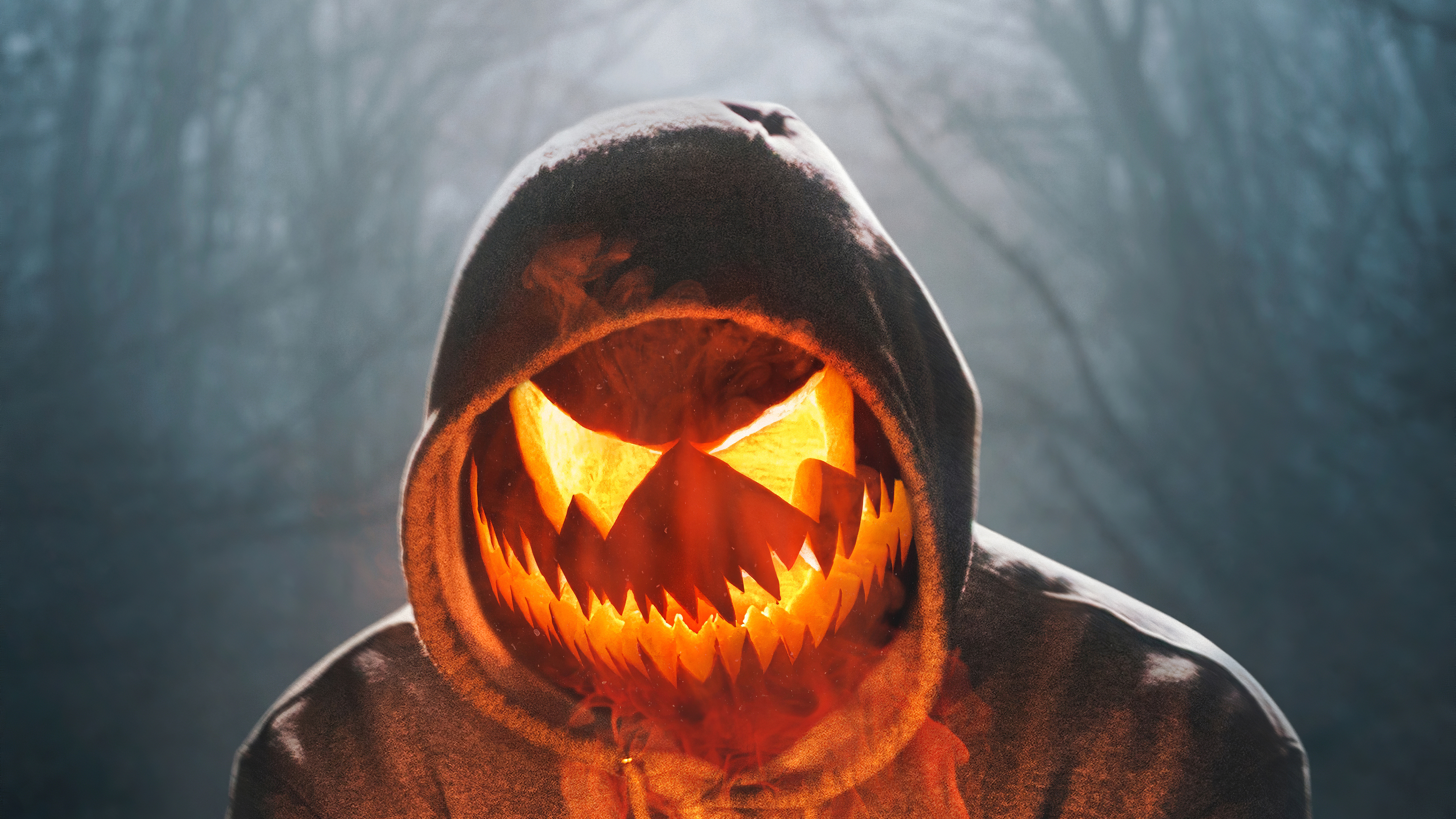 Halloween Mask Boy Glowing 4k, HD Artist, 4k Wallpapers ...