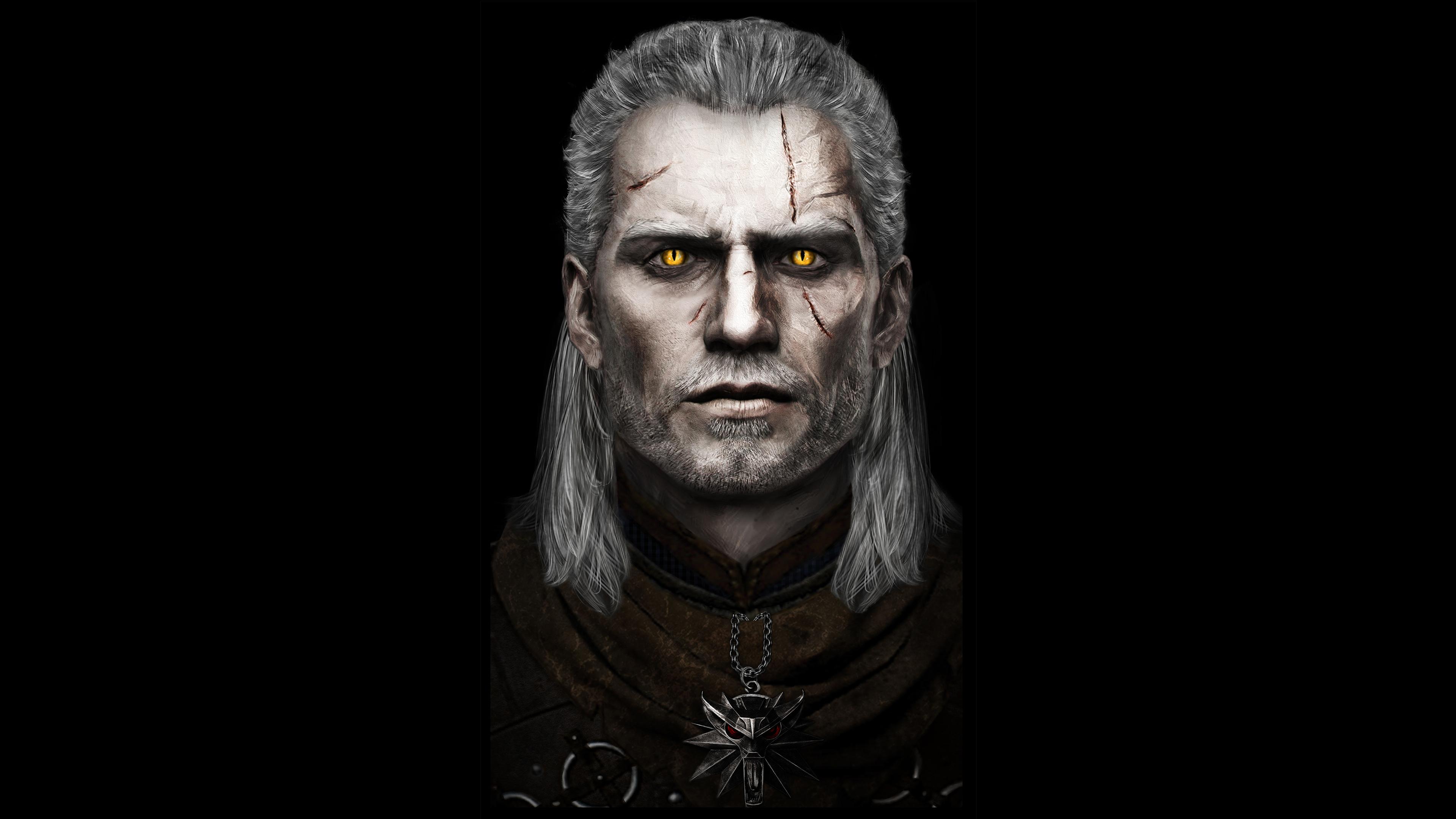 1366x768 Henry Cavill As Geralt Of Rivia 4k 1366x768