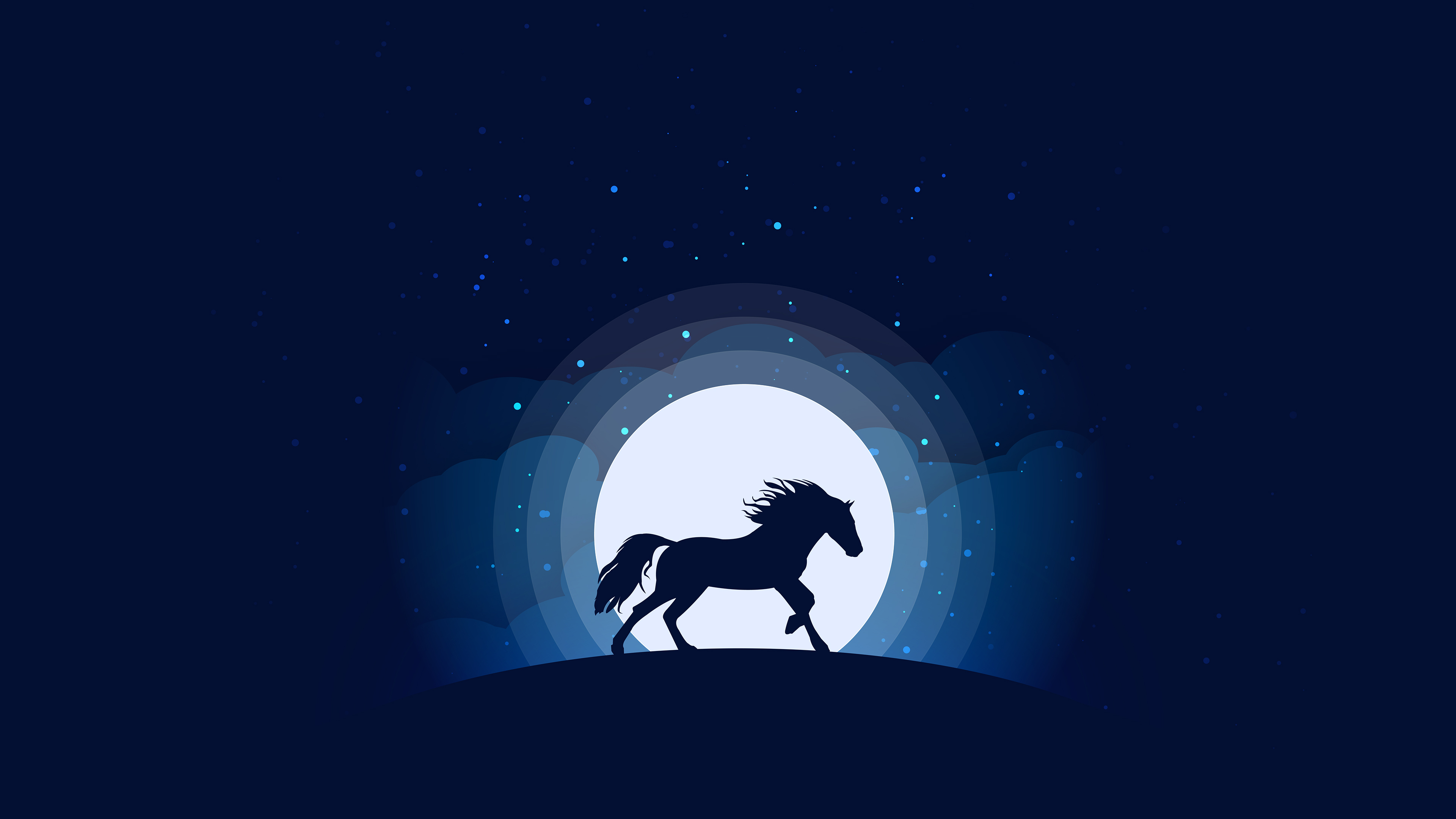 Horse Silhouette Digital Art Hd Animals 4k Wallpapers Images Backgrounds Photos And Pictures