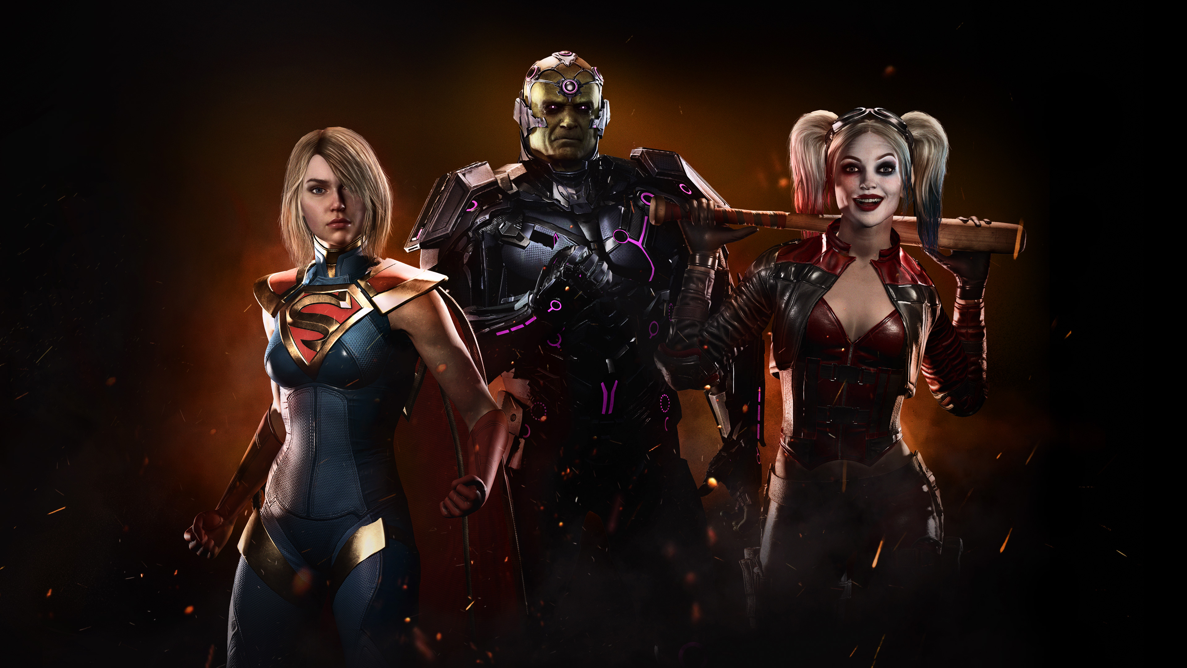 Injustice 2 Supergirl Harley Quinn 4k Hd Games 4k Wallpapers