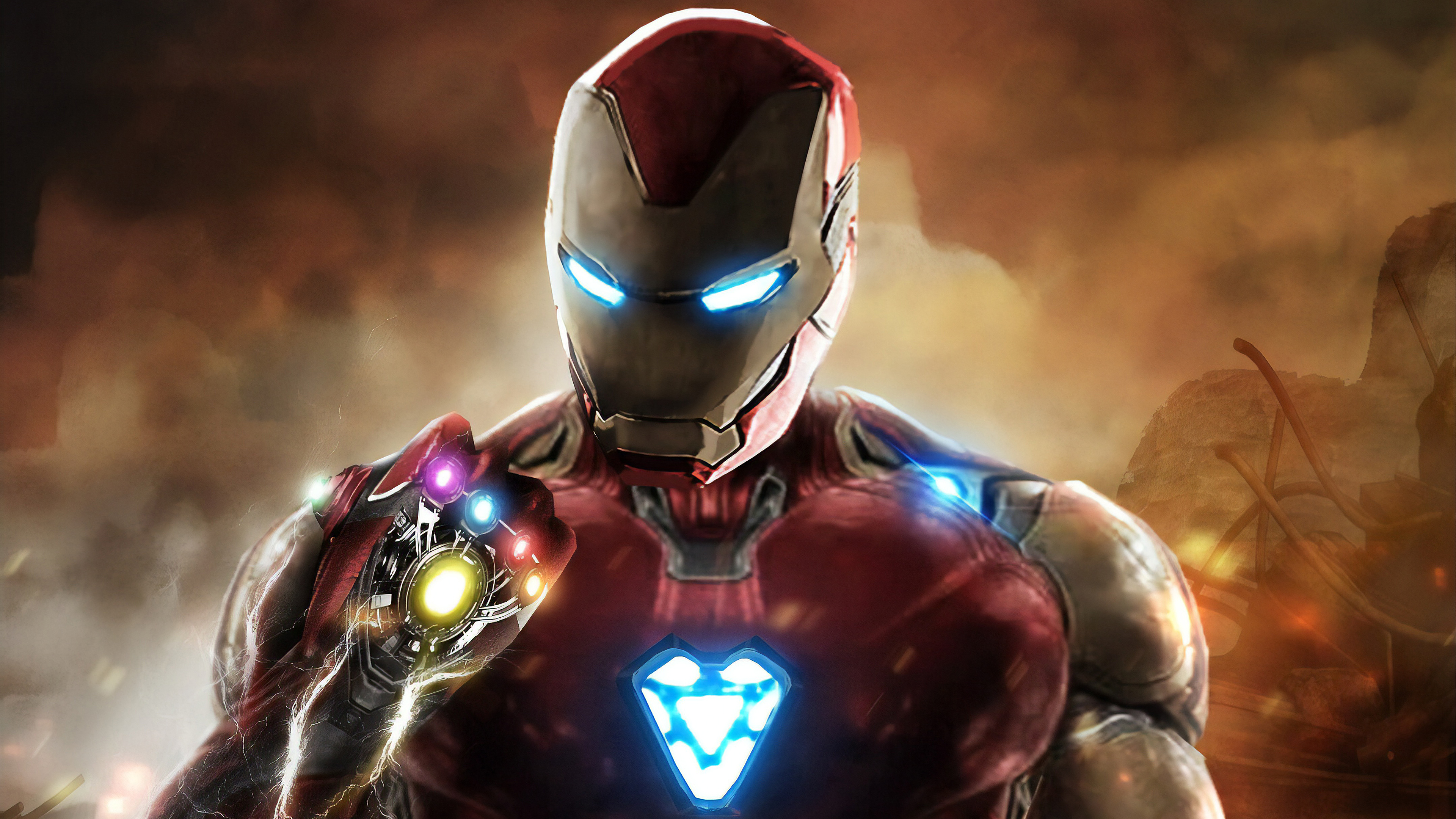 Iron Man Infinity Gauntlet Avengers Endgame Hd Superheroes 4k