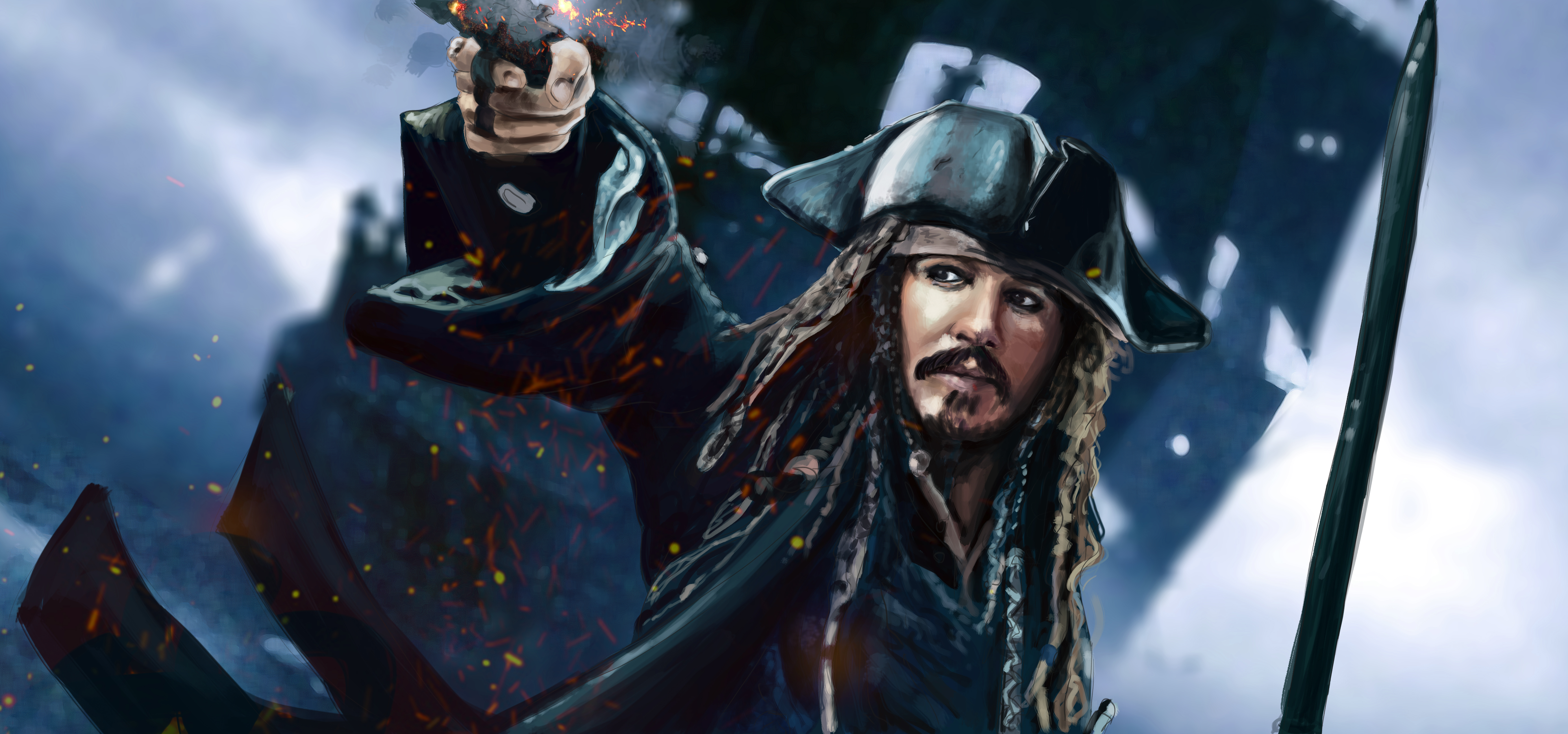 2560x1440 Jack Sparrow 5k Artwork 1440p Resolution Hd 4k Wallpapers Images Backgrounds Photos And Pictures