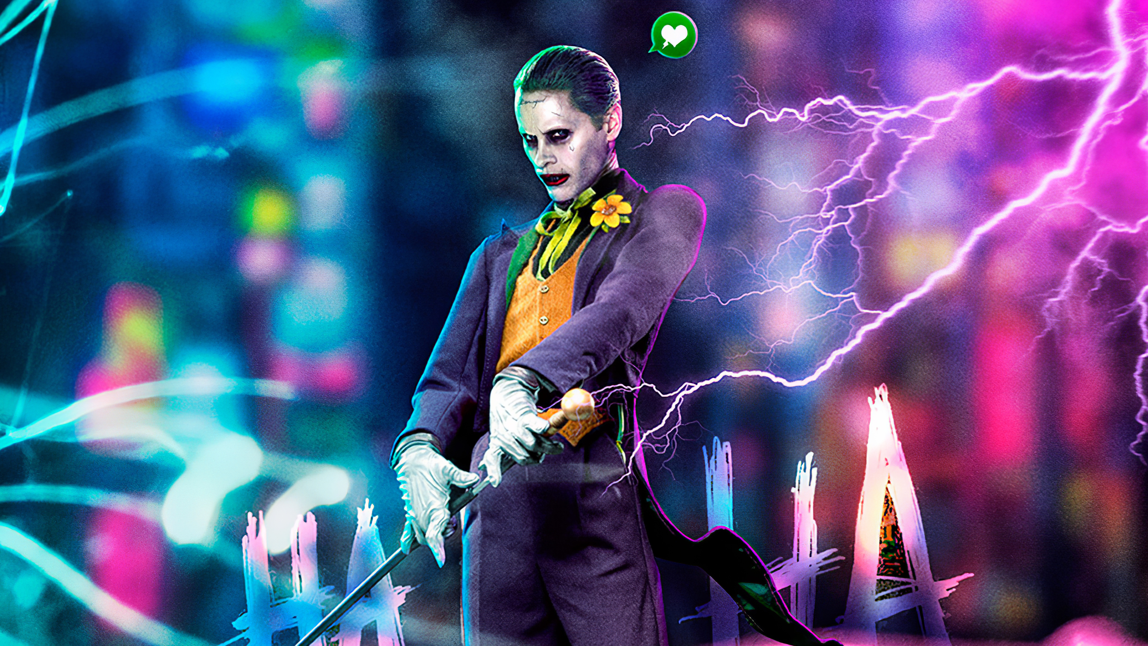 Jared Leto Joker Cyberpunk Art 4k Hd Superheroes 4k Wallpapers Images Backgrounds Photos And Pictures