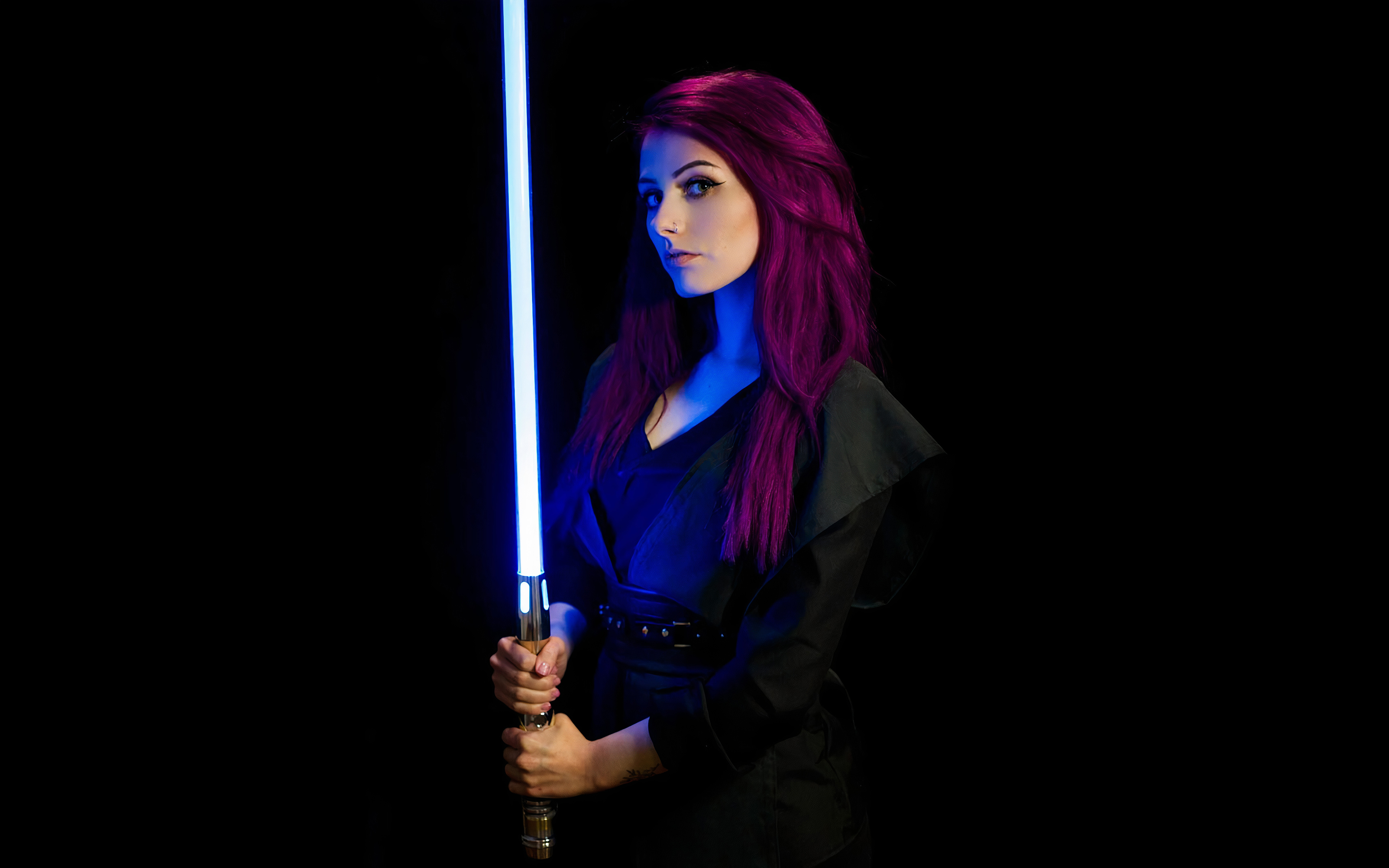1400x1050 Jedi Star Wars Girl Cosplay 4k 1400x1050 Resolution Hd 4k Wallpapers Images Backgrounds Photos And Pictures