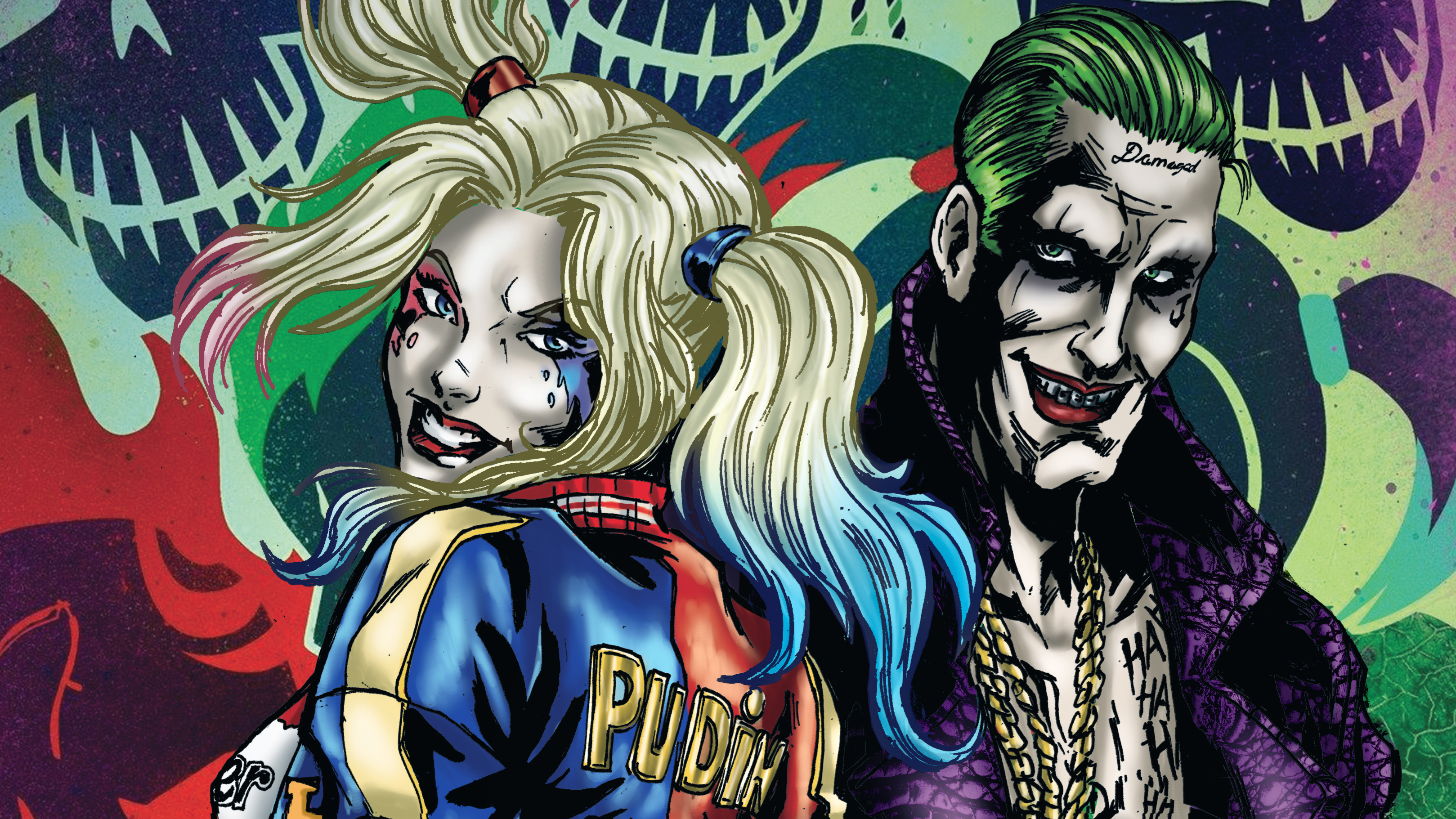 Joker And Harley Quinn Art Hd Superheroes 4k Wallpapers Images Backgrounds Photos And Pictures