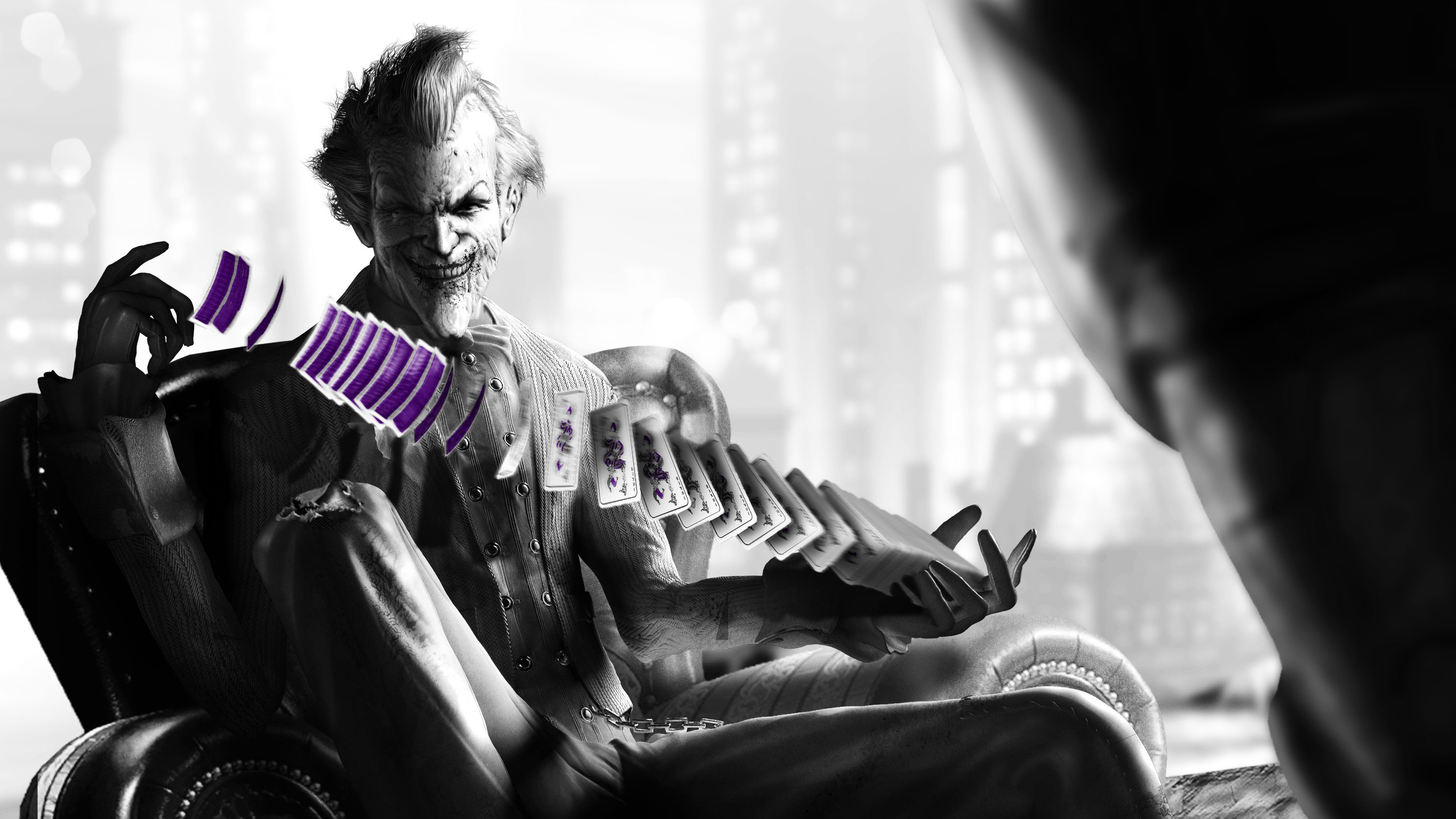 Joker Playing With Cards Monochrome Hd Superheroes 4k Wallpapers Images Backgrounds Photos And Pictures