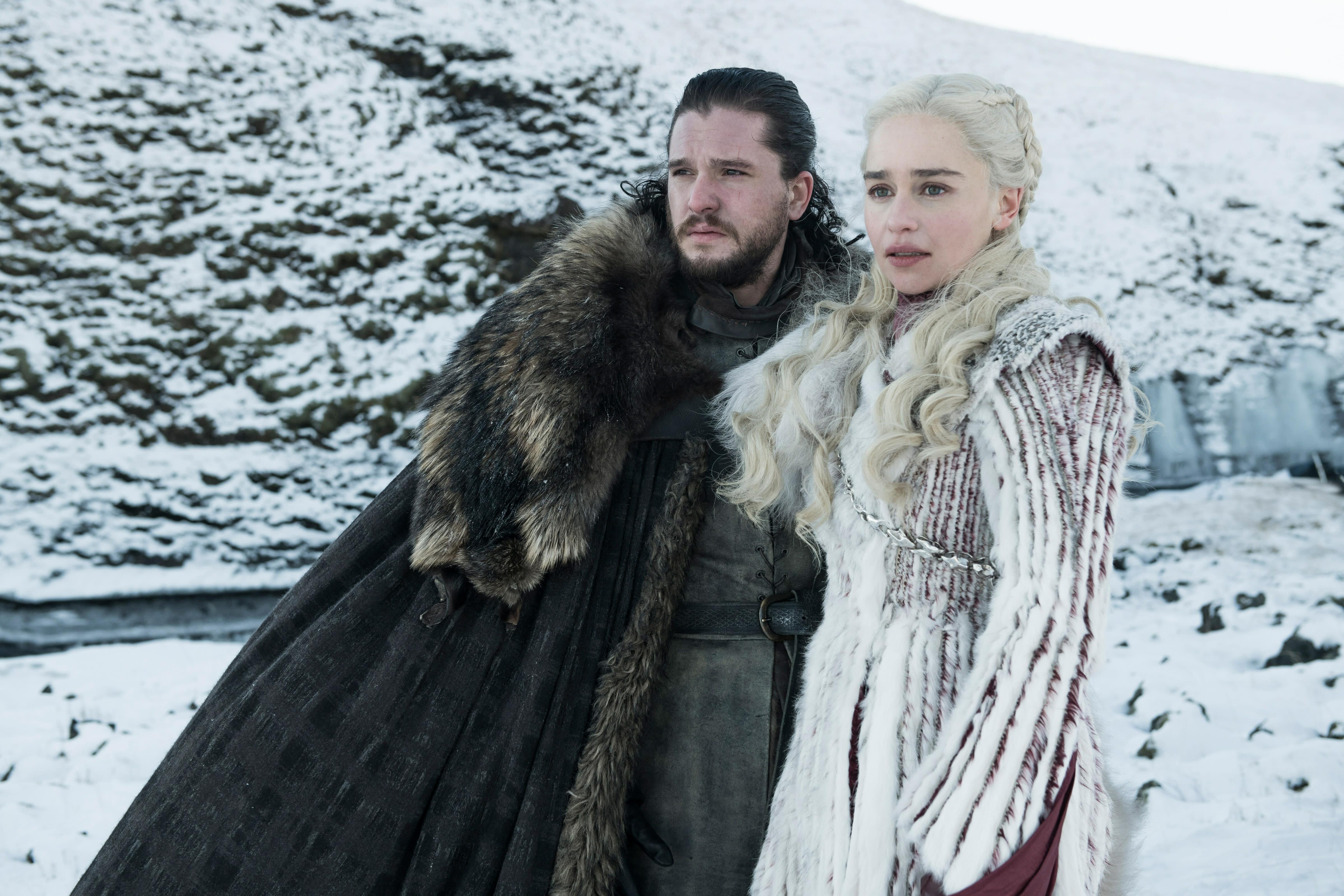 Jon Snow And Daenerys Targaryen Game Of Thrones Season 8 Hd Tv