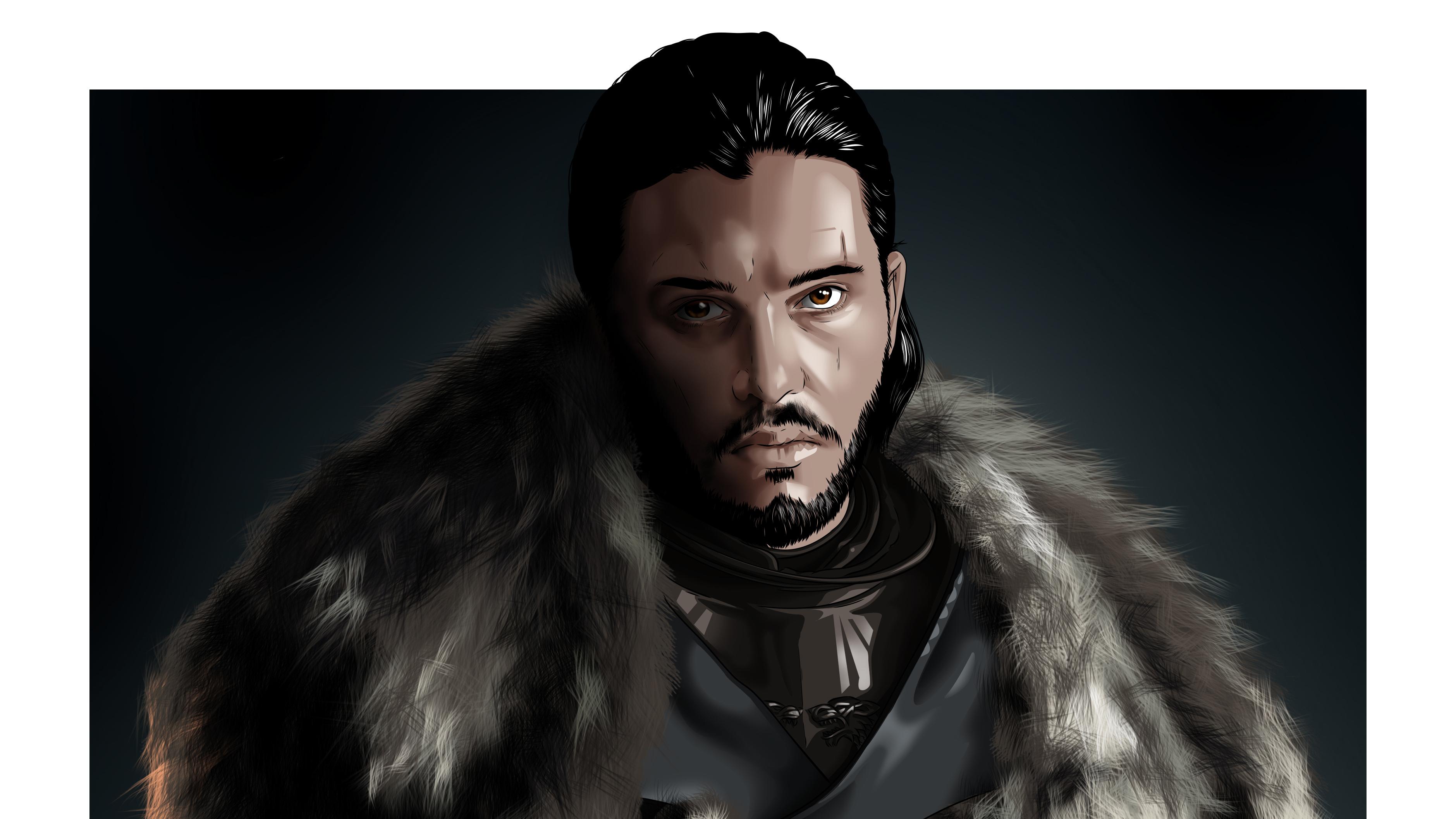 Jon Snow Game Of Thrones Digital Art Hd Tv Shows 4k Wallpapers