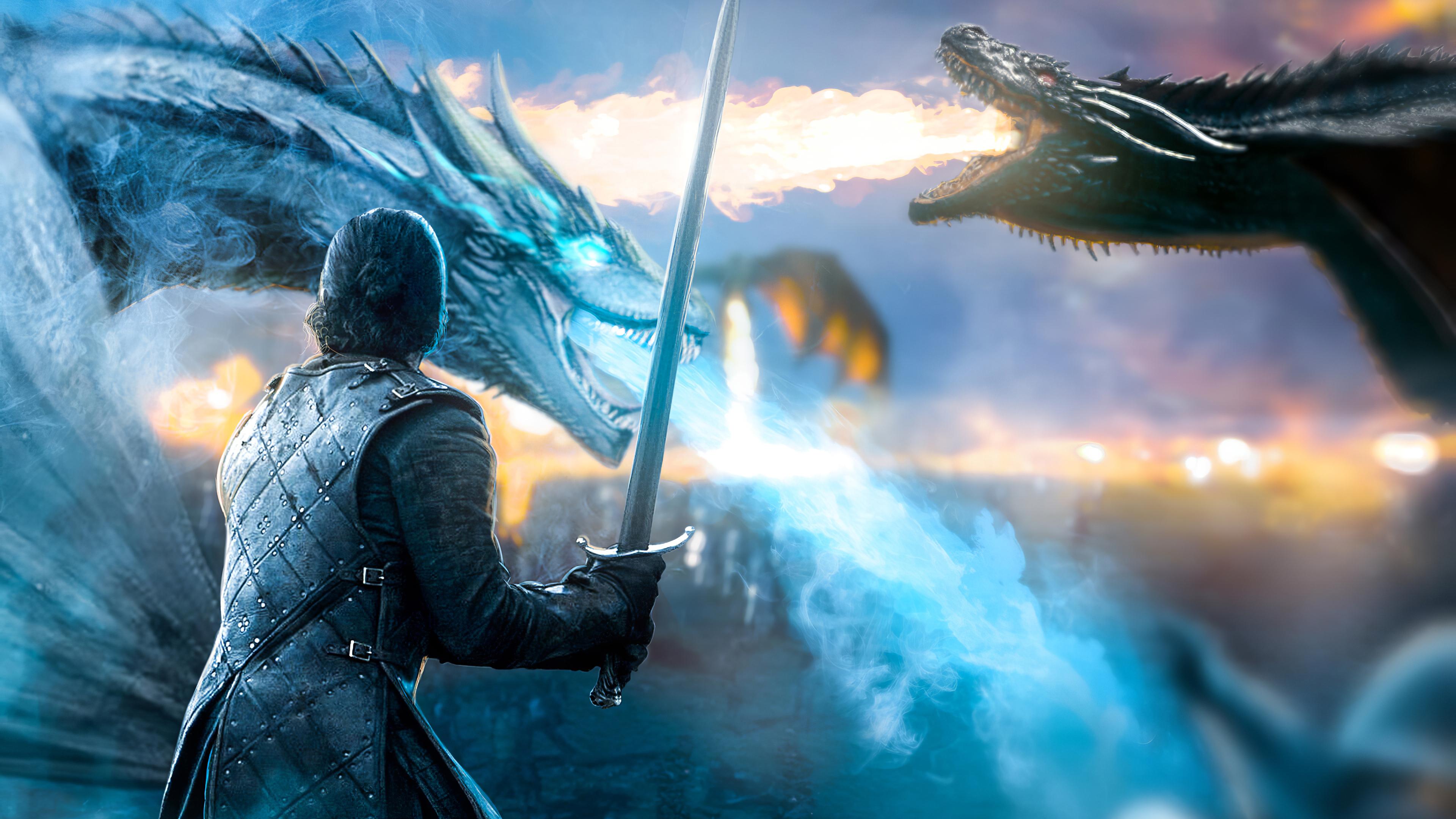 Jon Snow Game Of Thrones Dragon, HD Tv