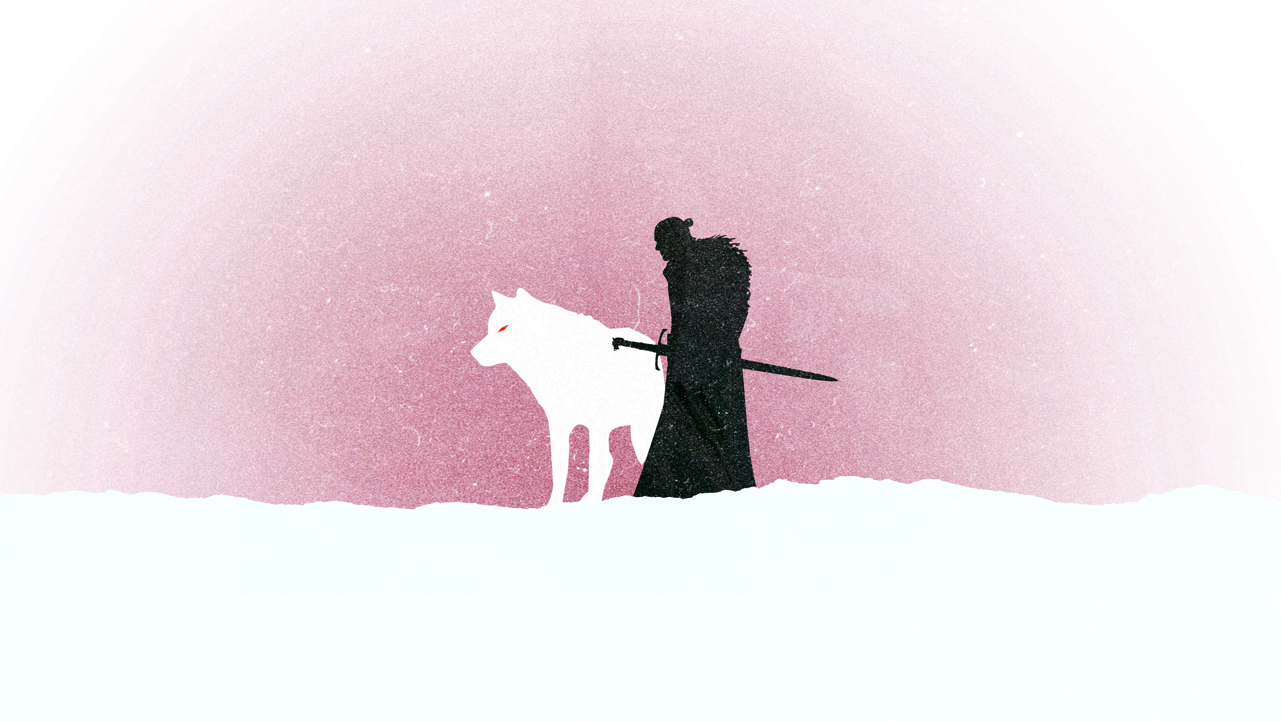 Jon Snow Game Of Thrones Minimalism Hd Tv Shows 4k Wallpapers