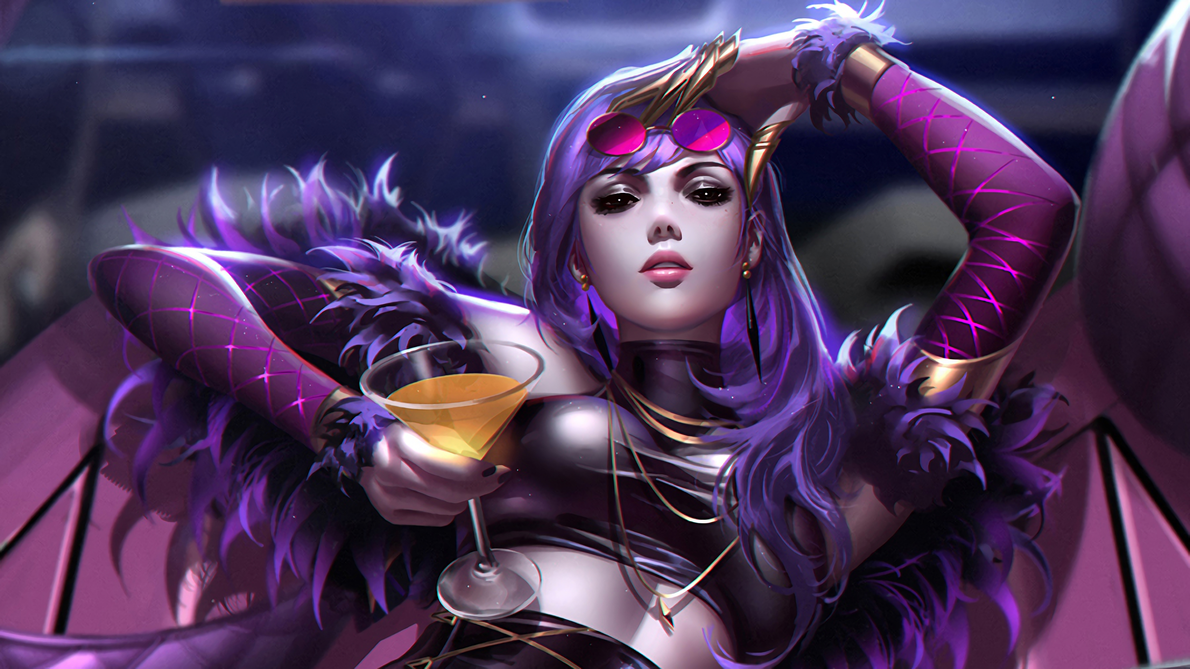 Kda Evelynn Lol Hd Games 4k Wallpapers Images Backgrounds
