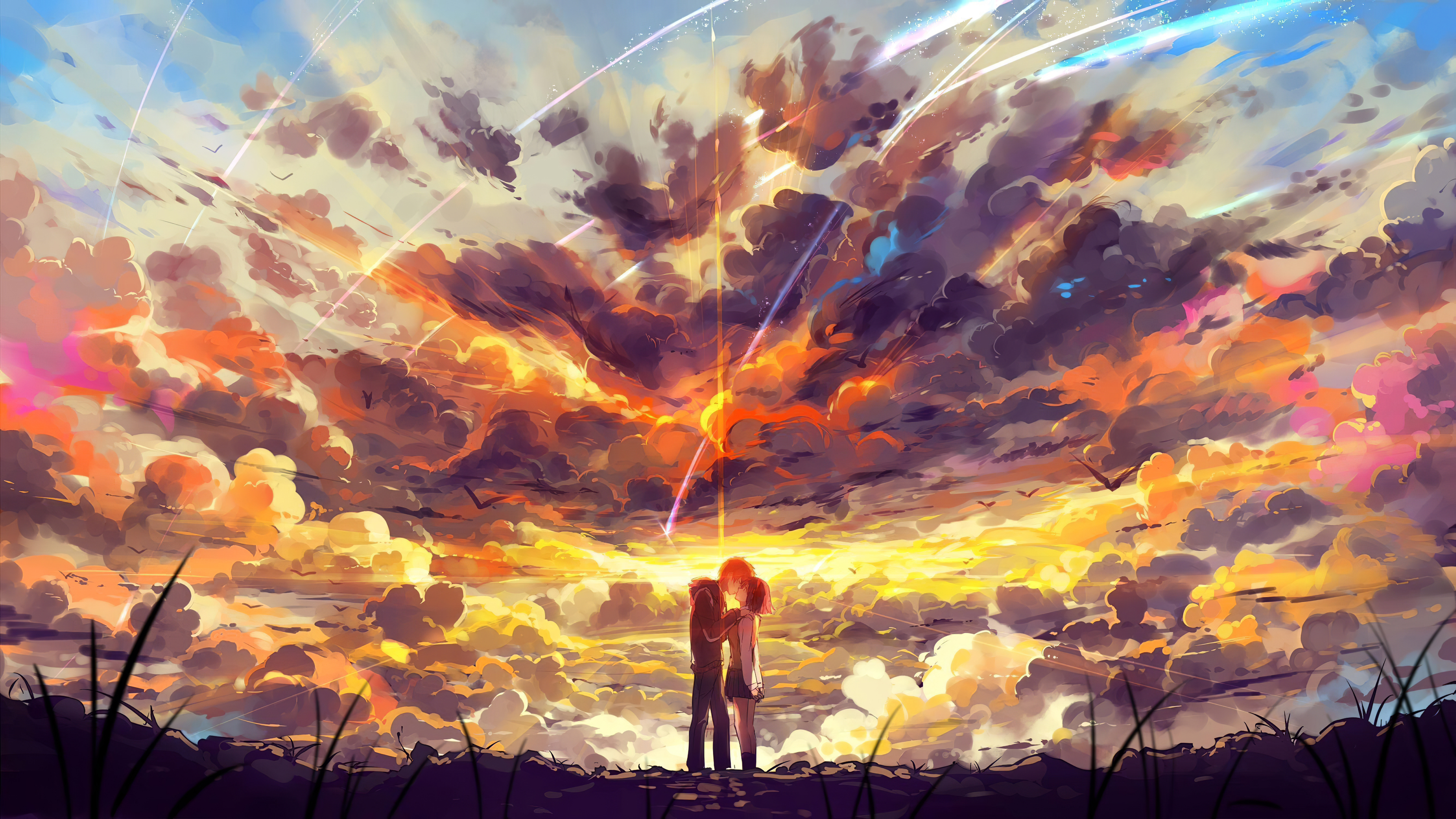 1125x2436 Kimi No Nawa Anime Couple 5k Iphone Xs Iphone 10 Iphone