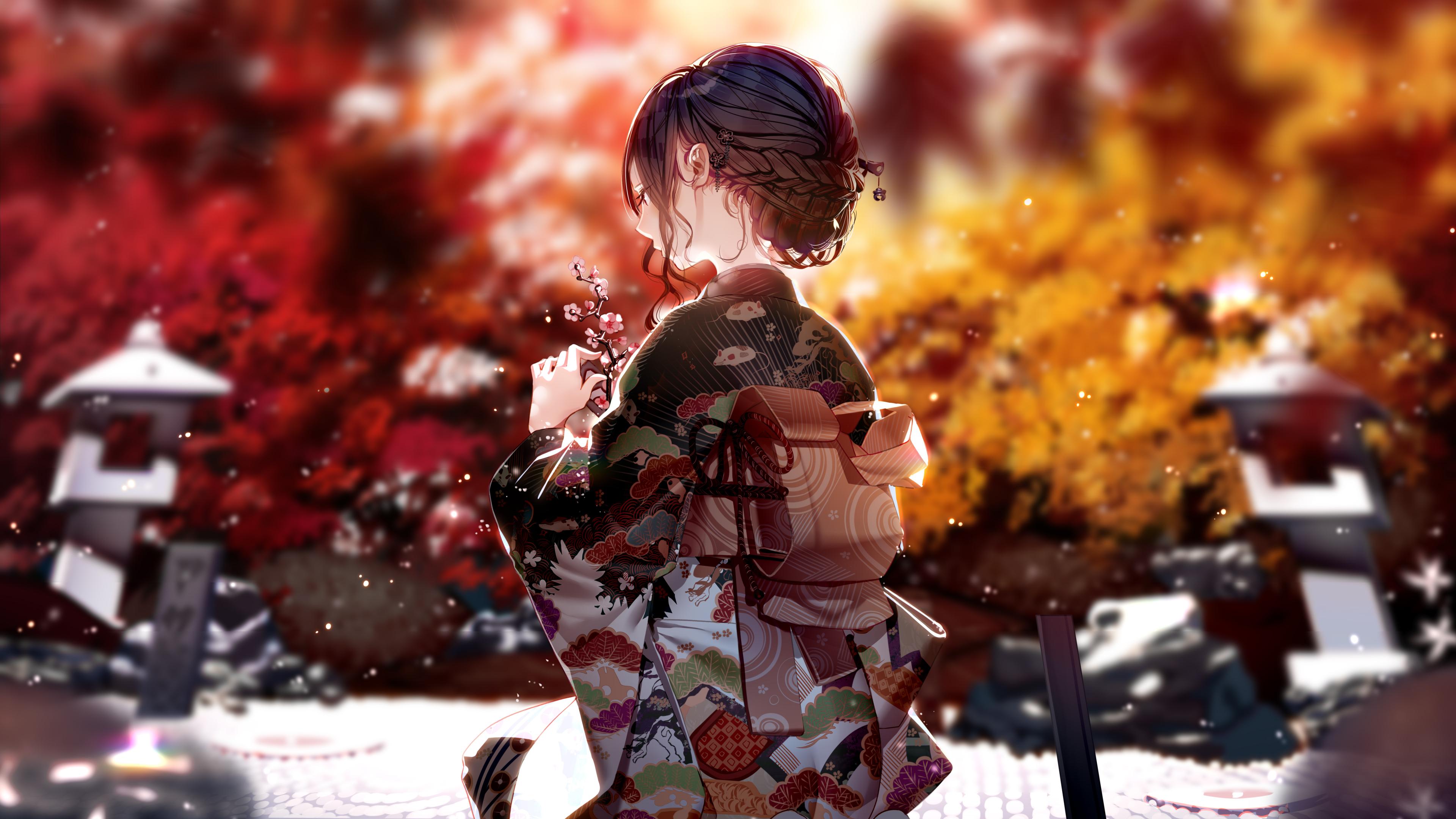 Kimono Dress Anime Girl 4k, HD Anime, 4k Wallpapers ...
