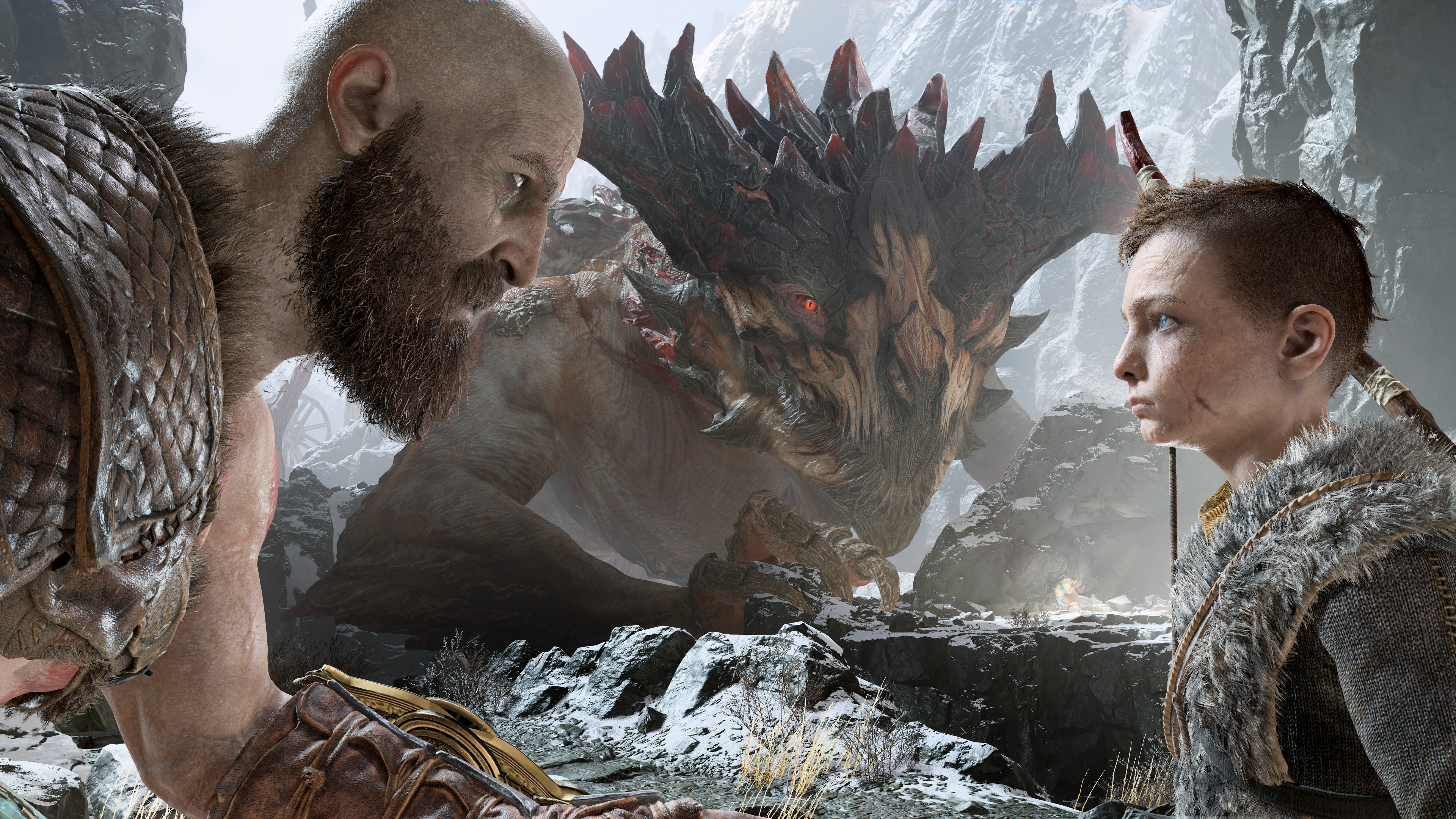 1920x1200 Kratos And Atreus God Of War 4 4k 1080p Resolution