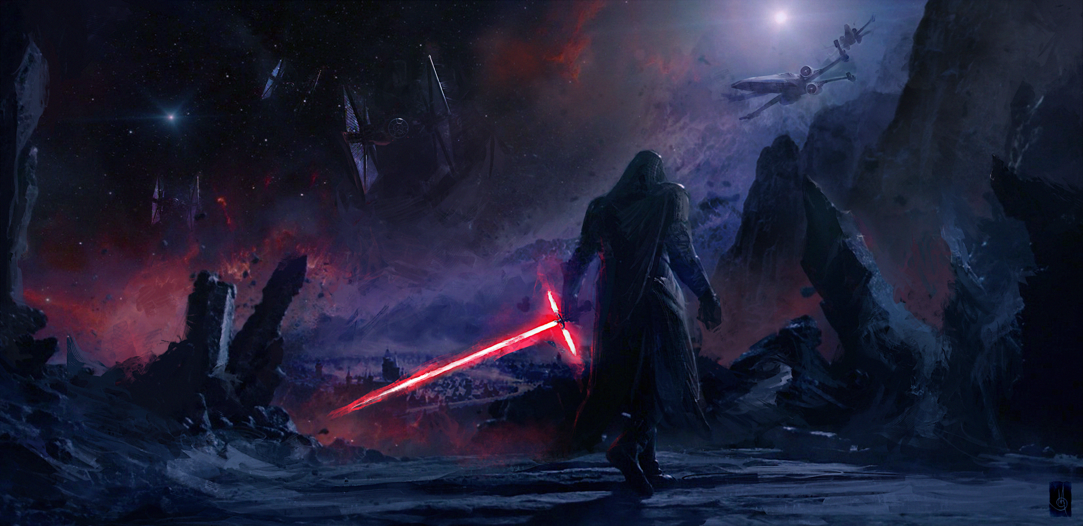 1920x1080 Kylo Ren Star Wars Artwork 4k Laptop Full Hd 1080p Hd 4k Wallpapers Images Backgrounds Photos And Pictures