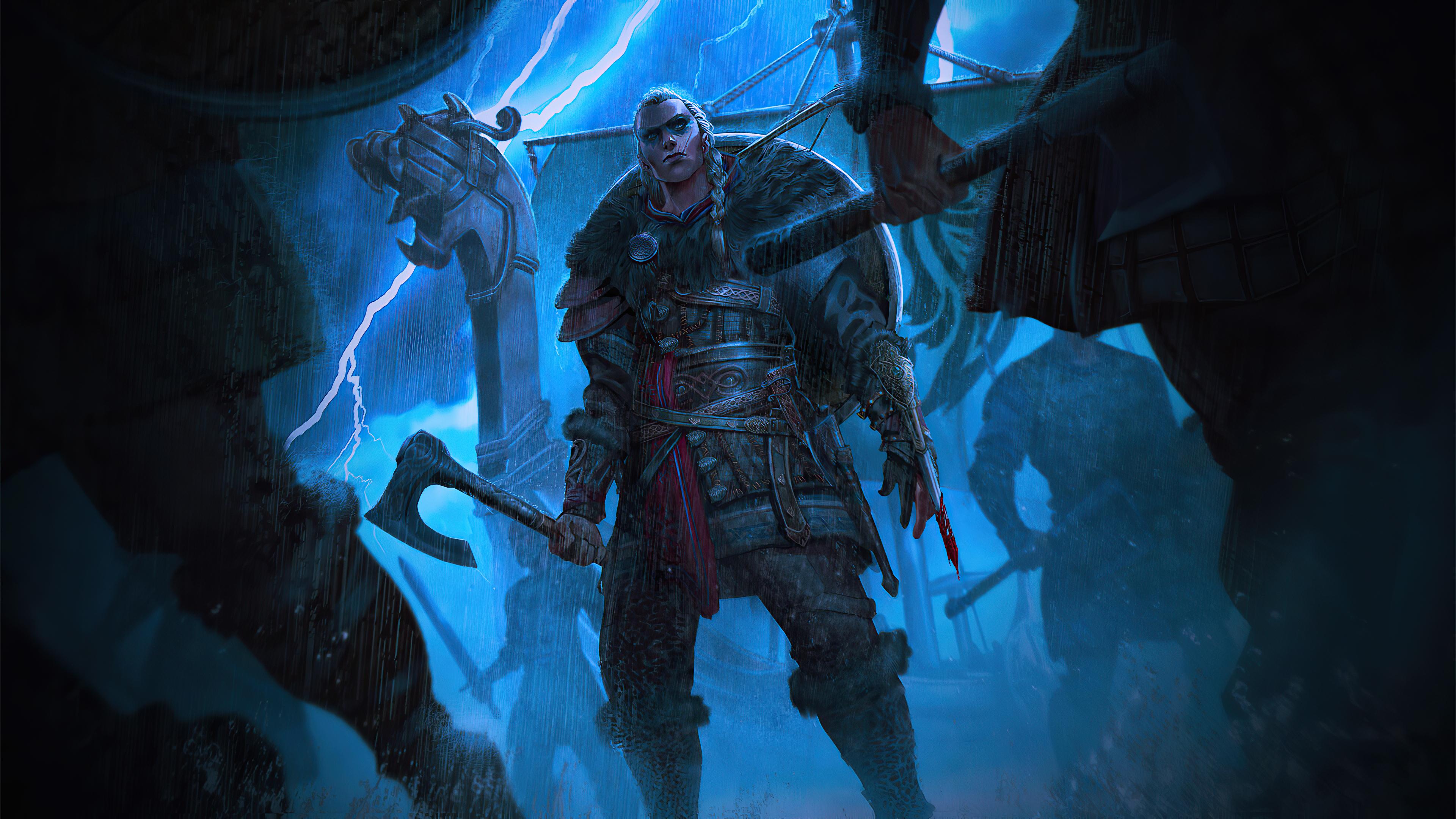 Lady Eivor From Assassins Creed Valhalla 4k Hd Games 4k