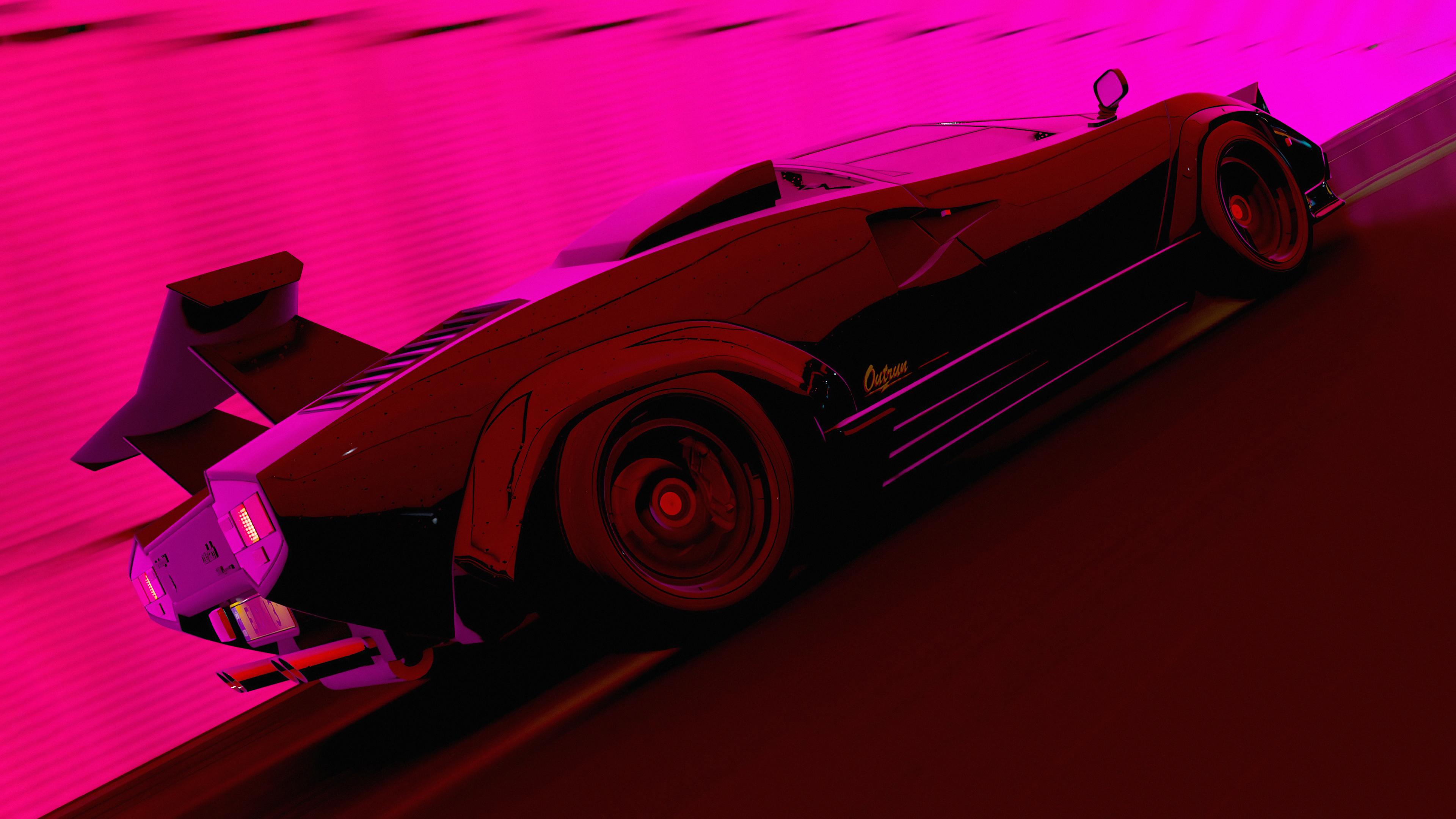 2560x1700 Lamborghini Countach In The Light Tunnel 4k