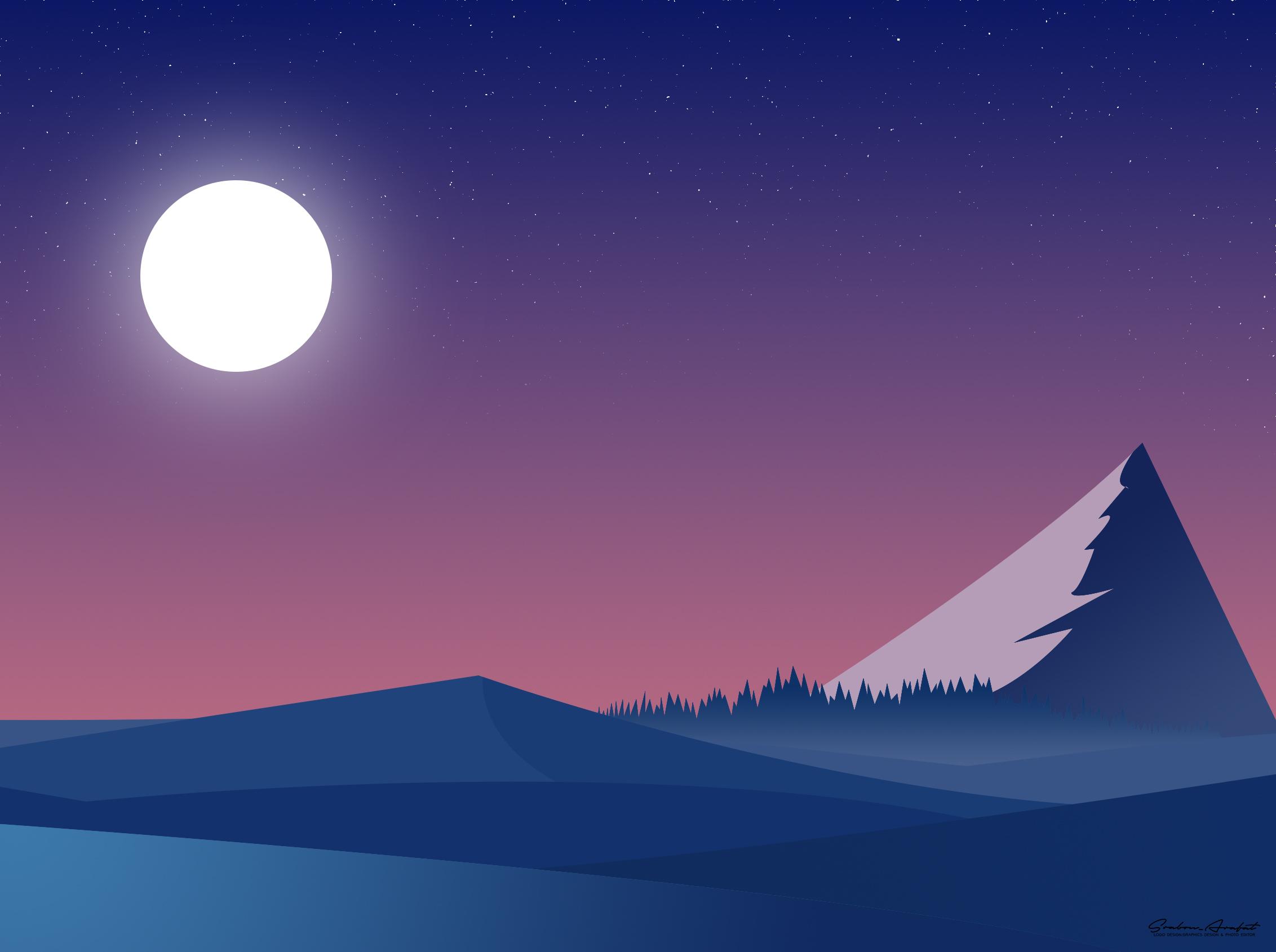 Landscape Mountains Minimalist, HD Artist, 4k Wallpapers ...