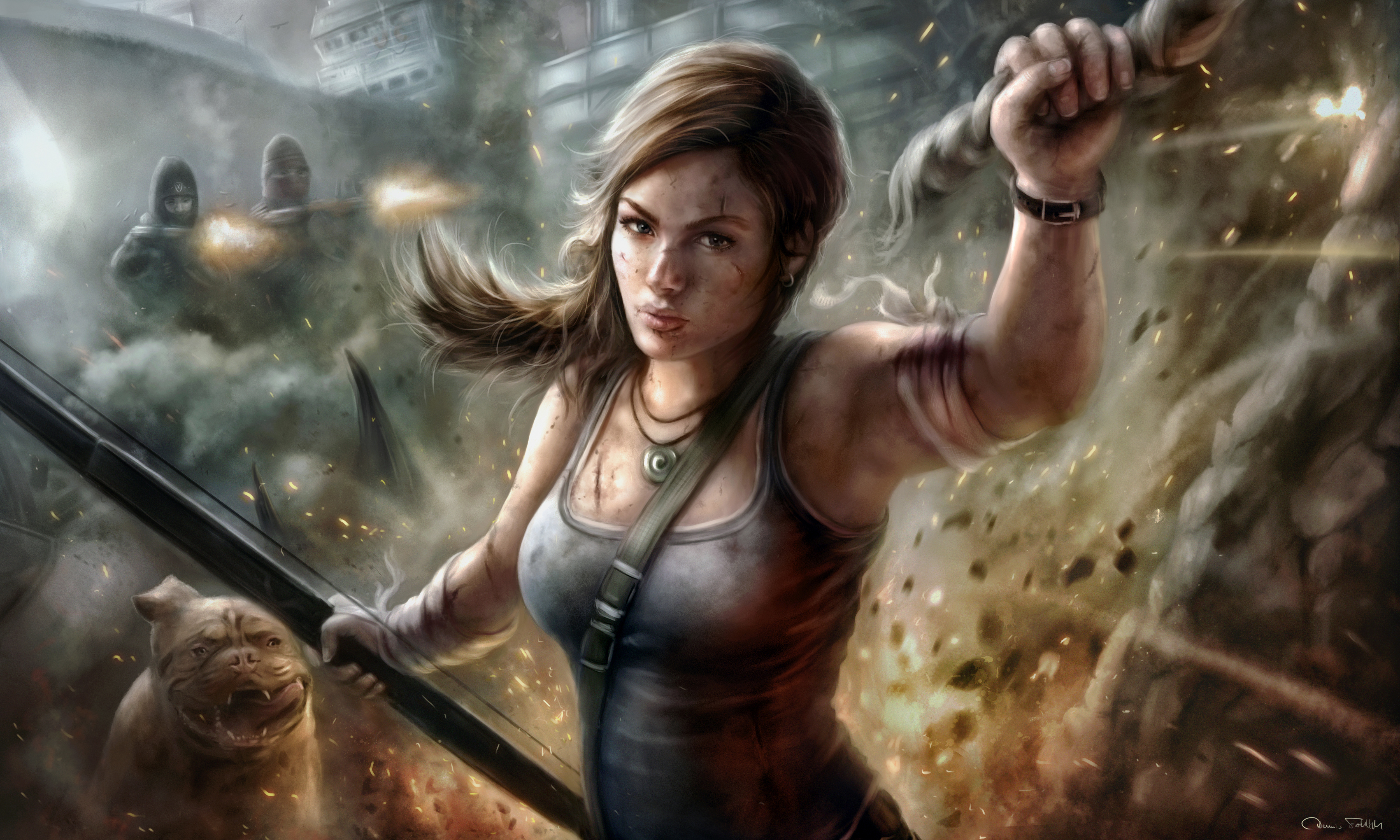 Lara Croft Tomb Raider Fanart 5k Hd Games 4k Wallpapers Images Backgrounds Photos And Pictures