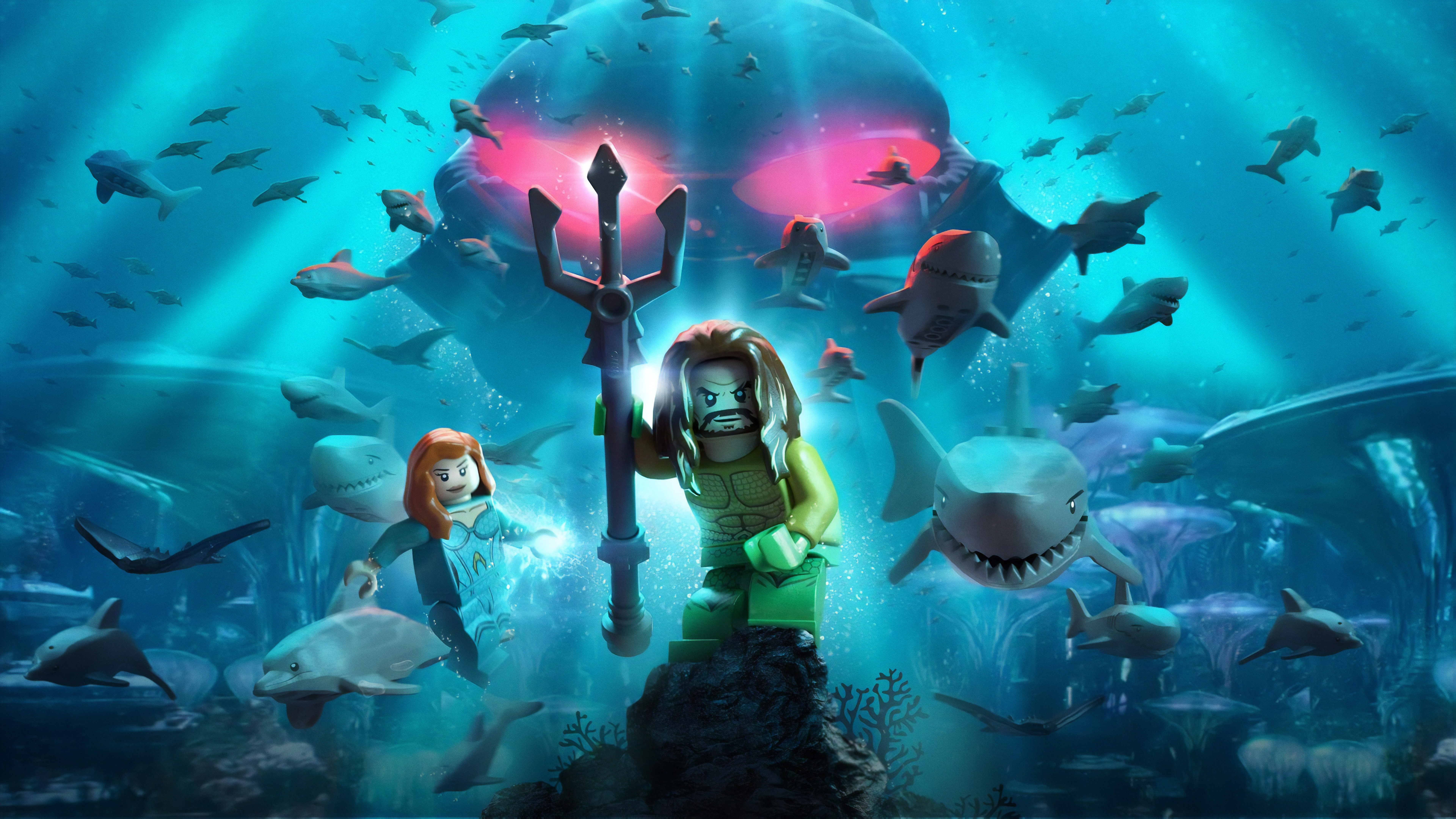 Lego Aquaman Poster 8k Hd Movies 4k Wallpapers Images Backgrounds Photos And Pictures