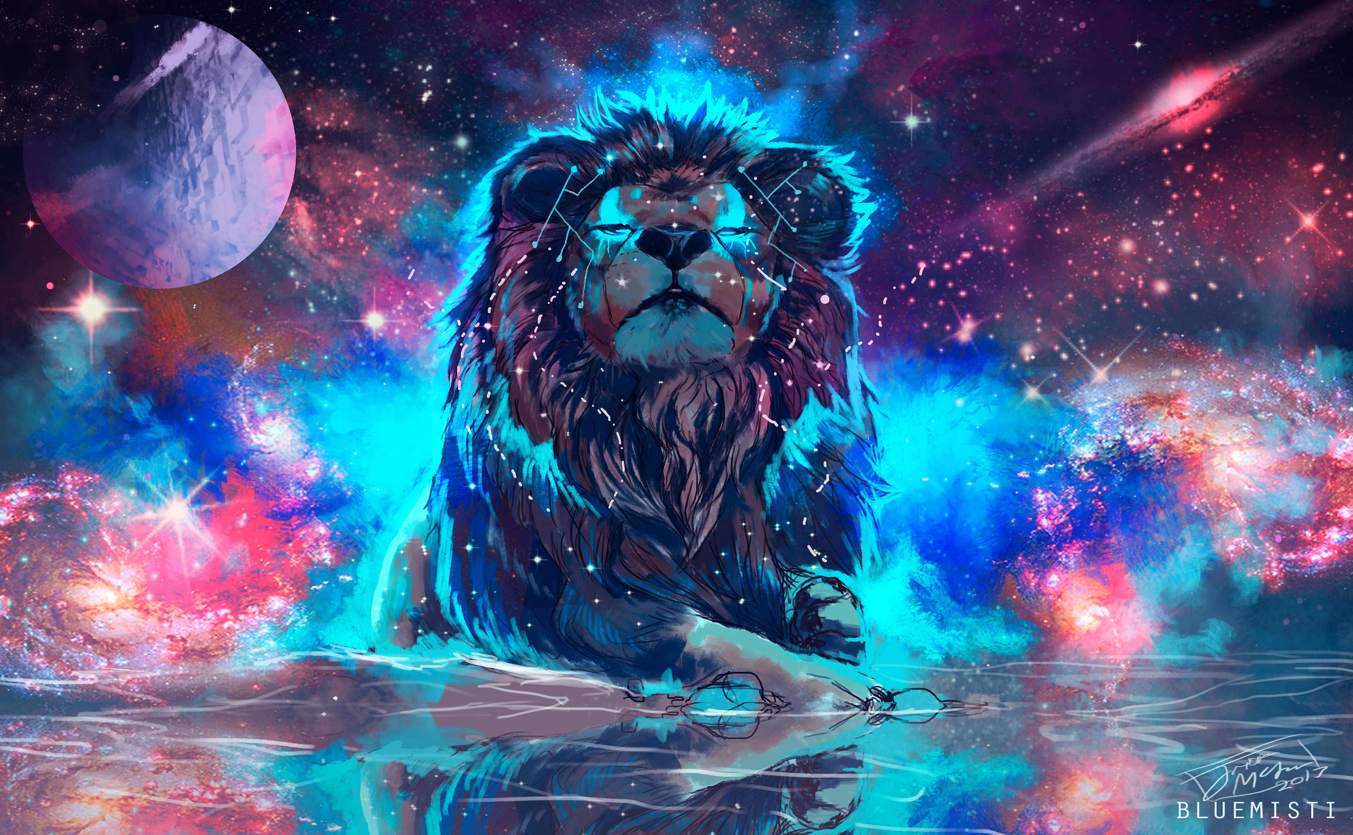 1360x768 Lion 4k Artistic Colorful Laptop Hd Hd 4k Wallpapers Images Backgrounds Photos And Pictures
