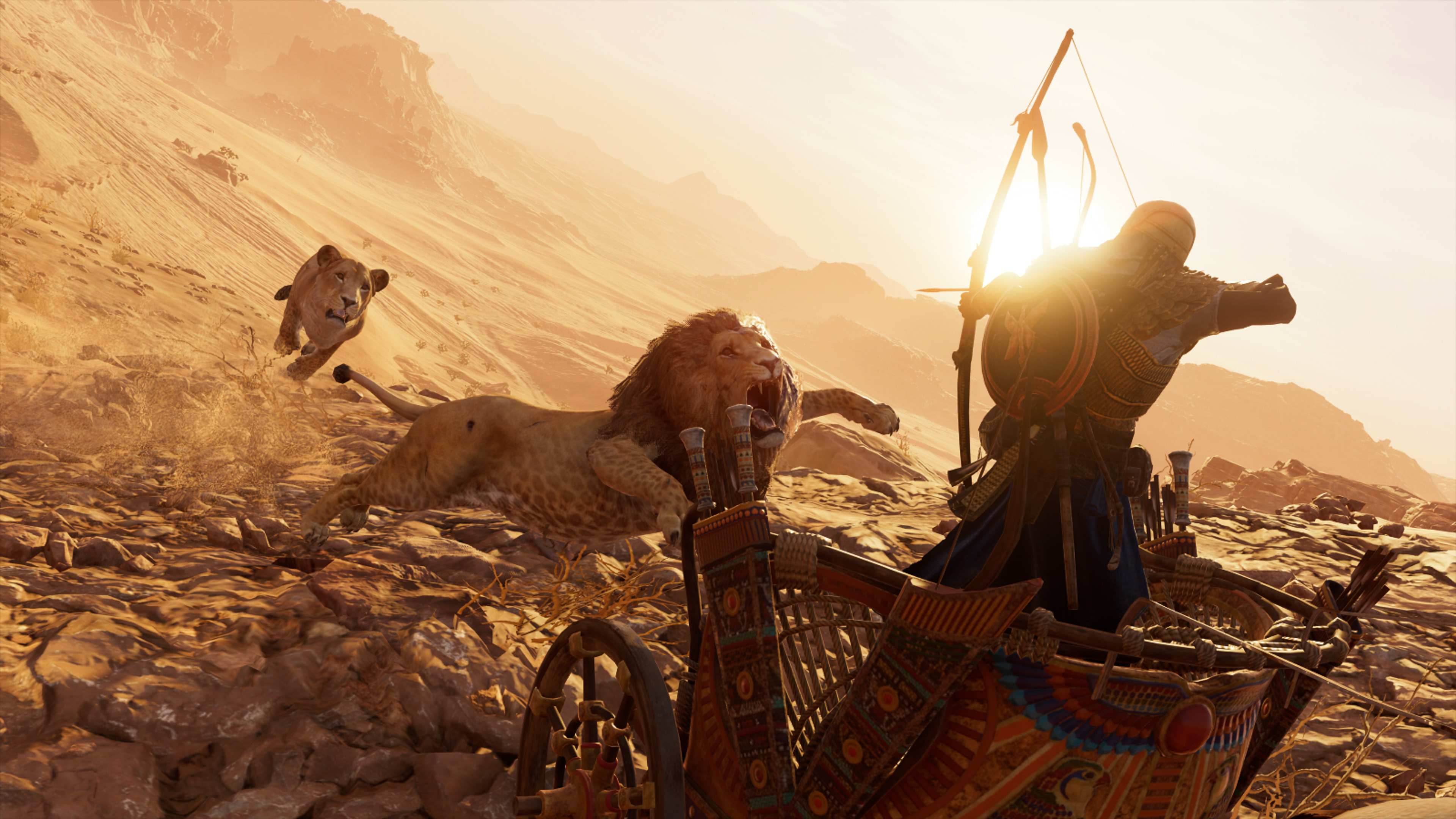 1600x900 Lions Assassins Creed Origins 4k 1600x900 Resolution Hd
