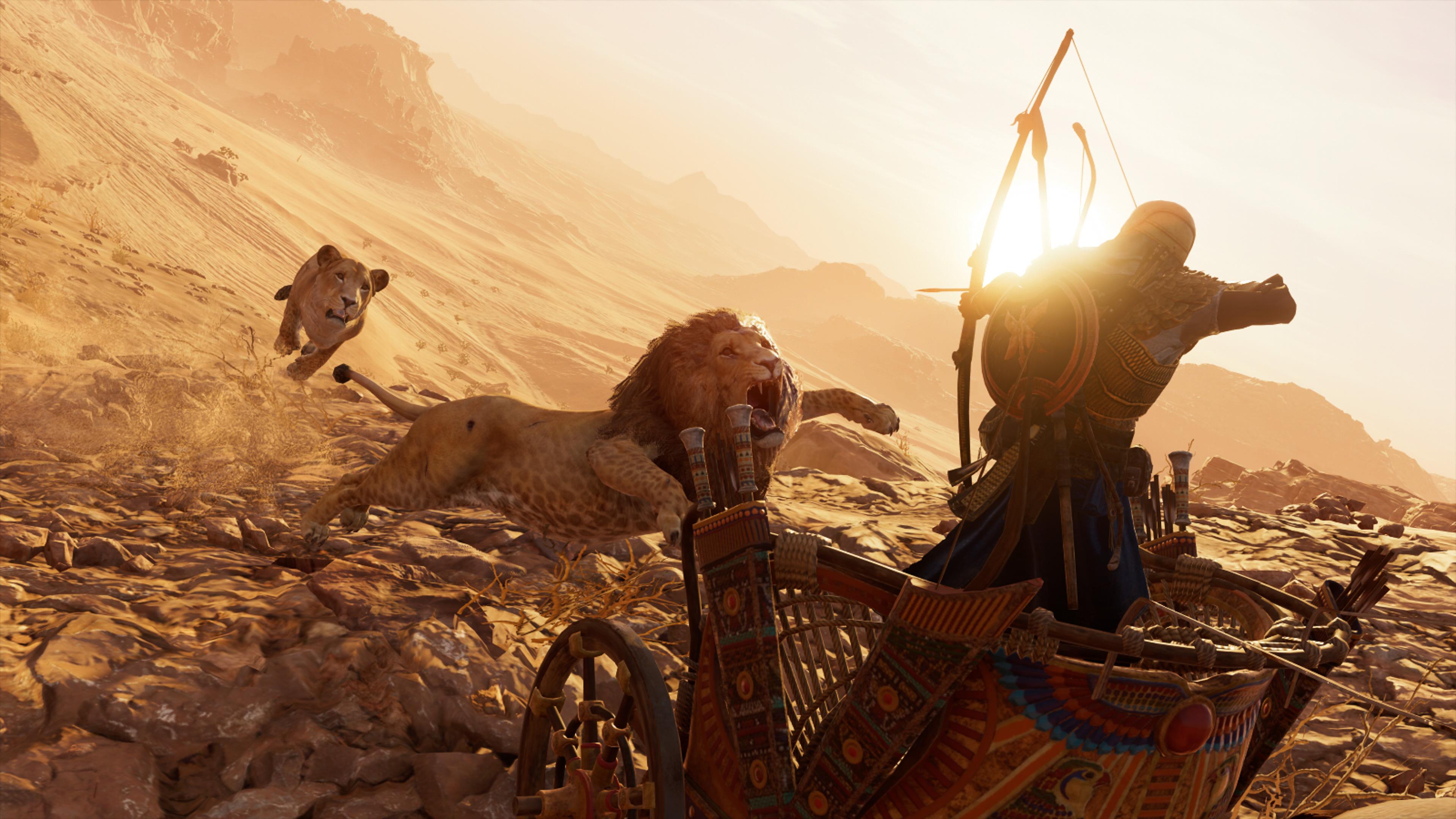 2048x2048 Lions Assassins Creed Origins 4k Ipad Air Hd 4k