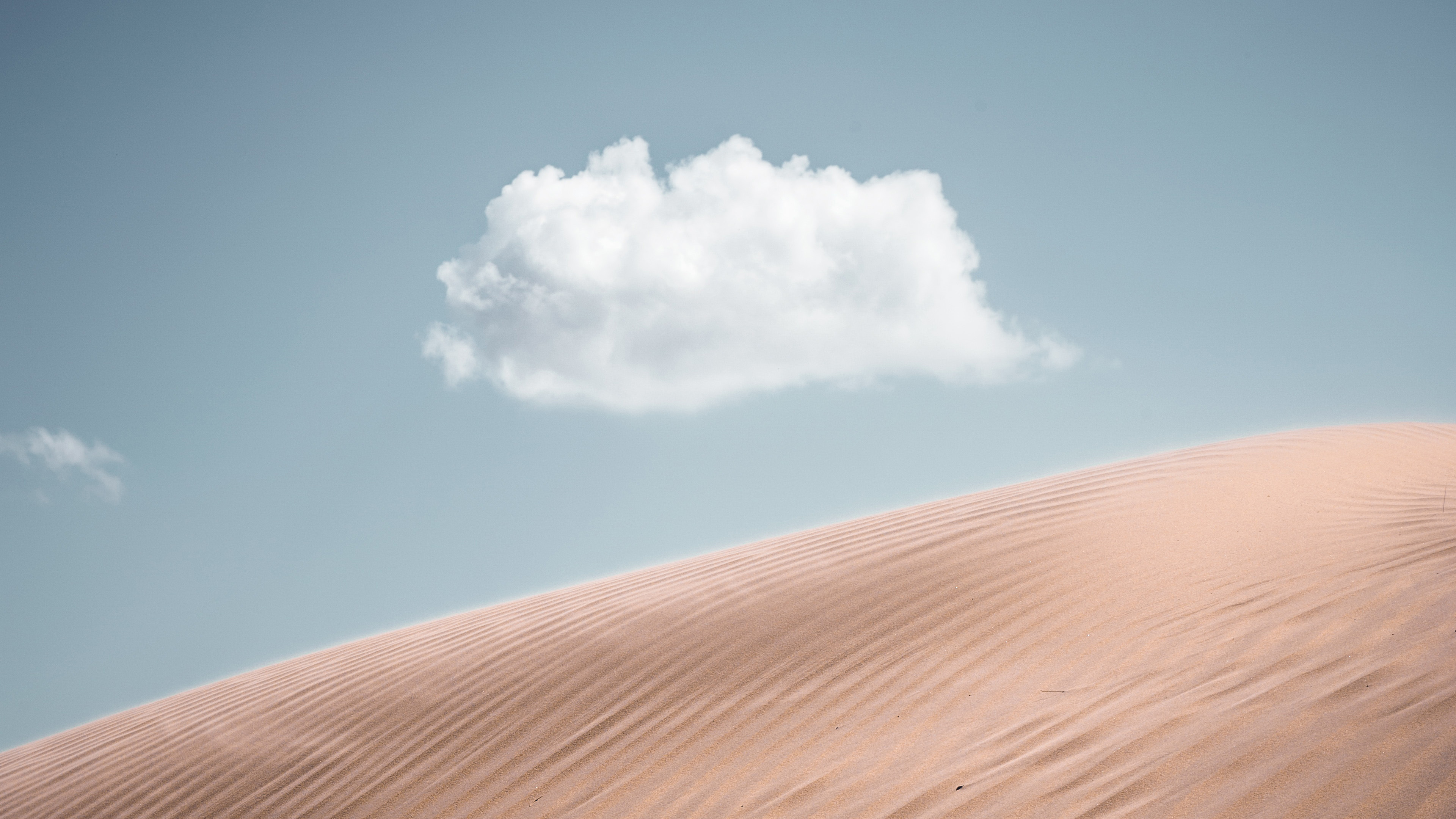 Lonely Cloud Above Desert 4k, HD Nature, 4k Wallpapers ...