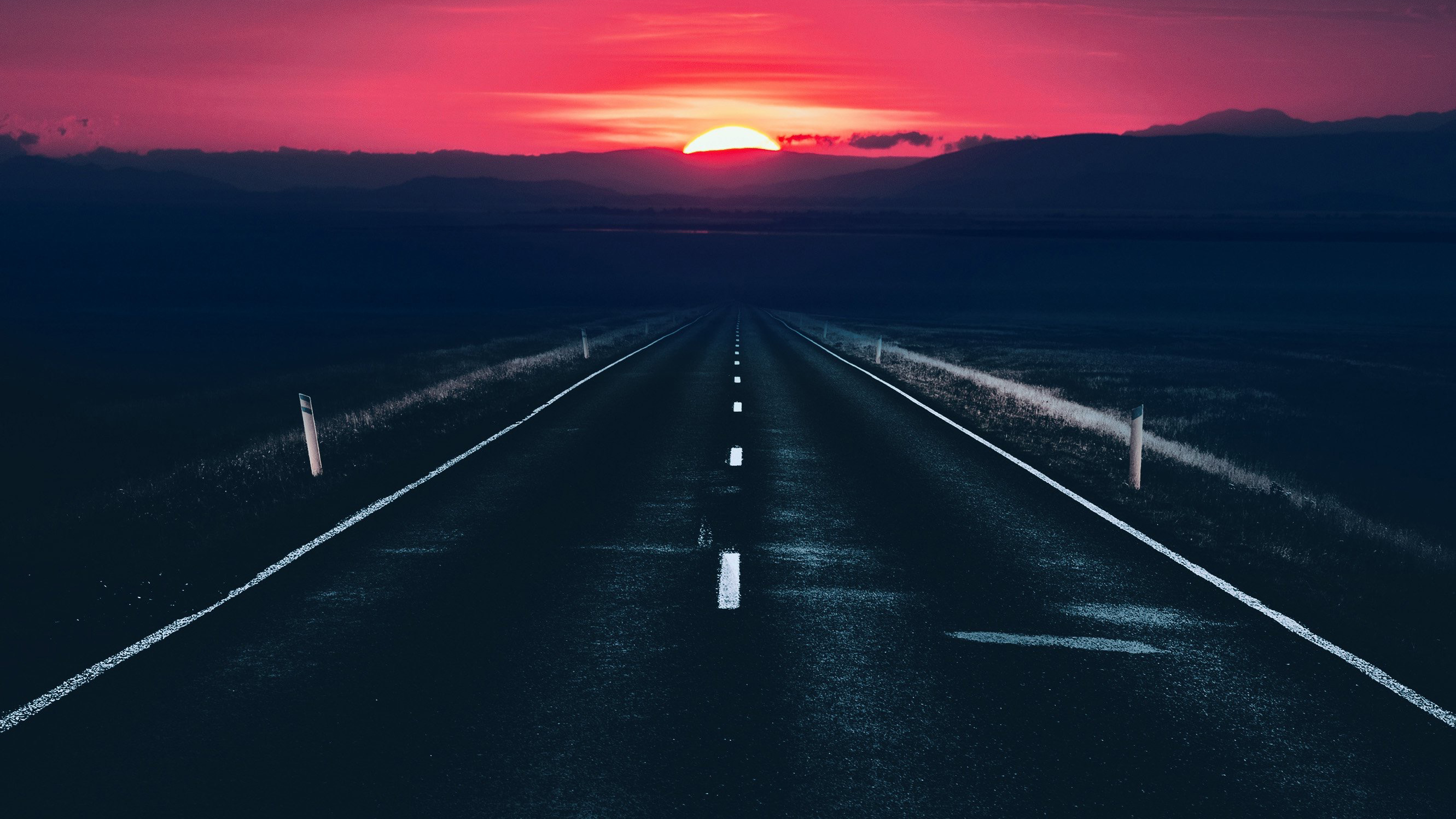 1280x1024 Long Alone Dark Road Sunset View 1280x1024 Resolution Hd 4k Wallpapers Images Backgrounds Photos And Pictures