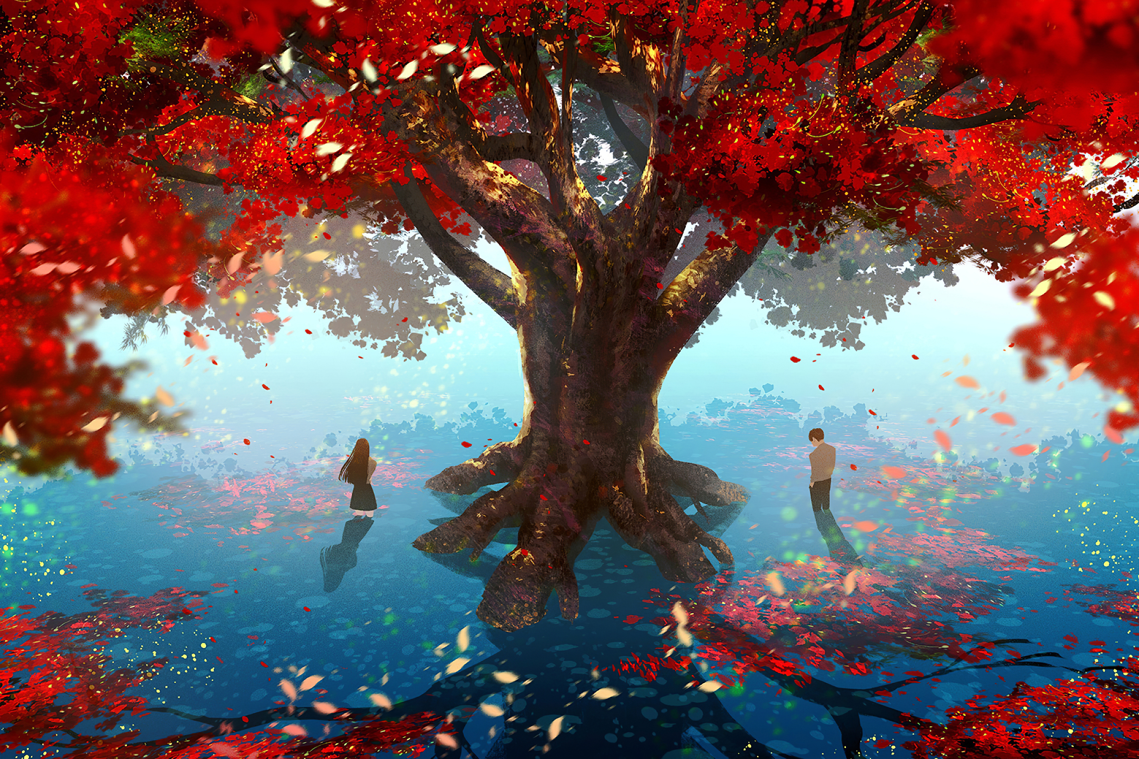 Love Memories With Tree 4k, HD Anime, 4k Wallpapers ...