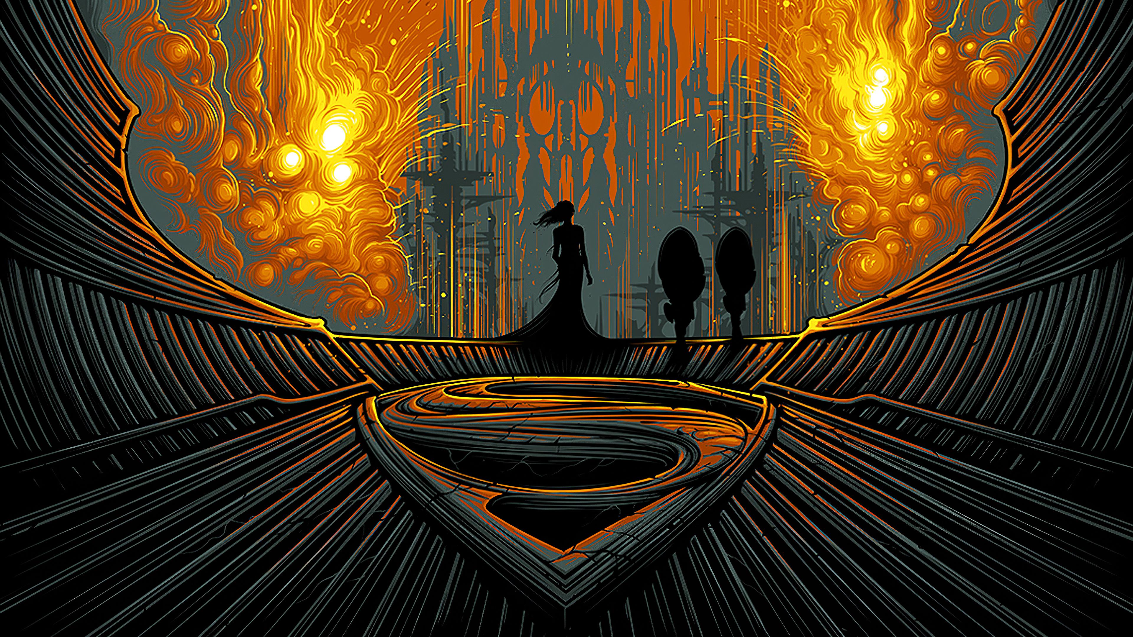 Man Of Steel Artistic Poster, HD Superheroes, 4k ...