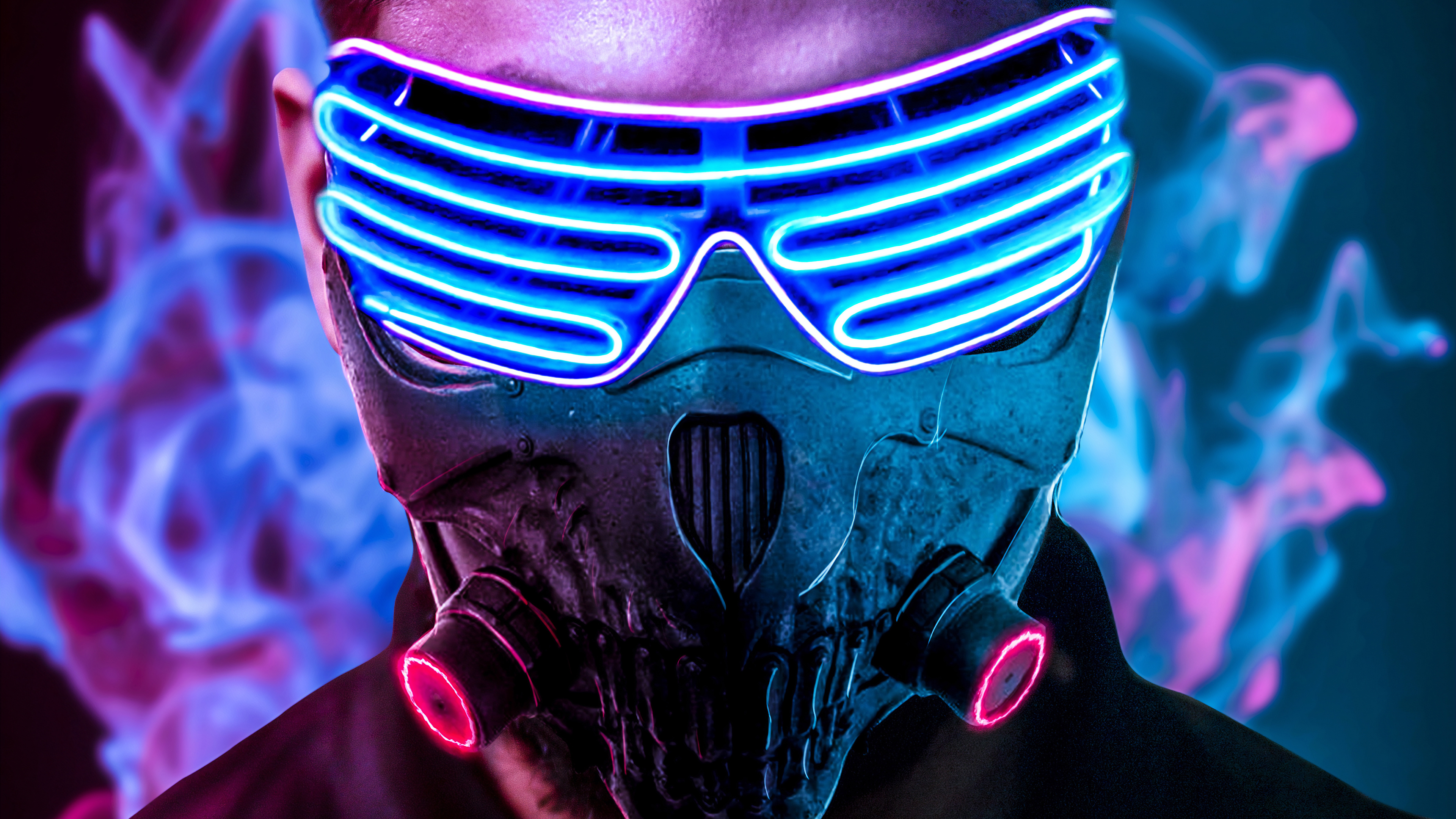 Mask Neon 4k Hd Artist 4k Wallpapers Images Backgrounds Photos And Pictures