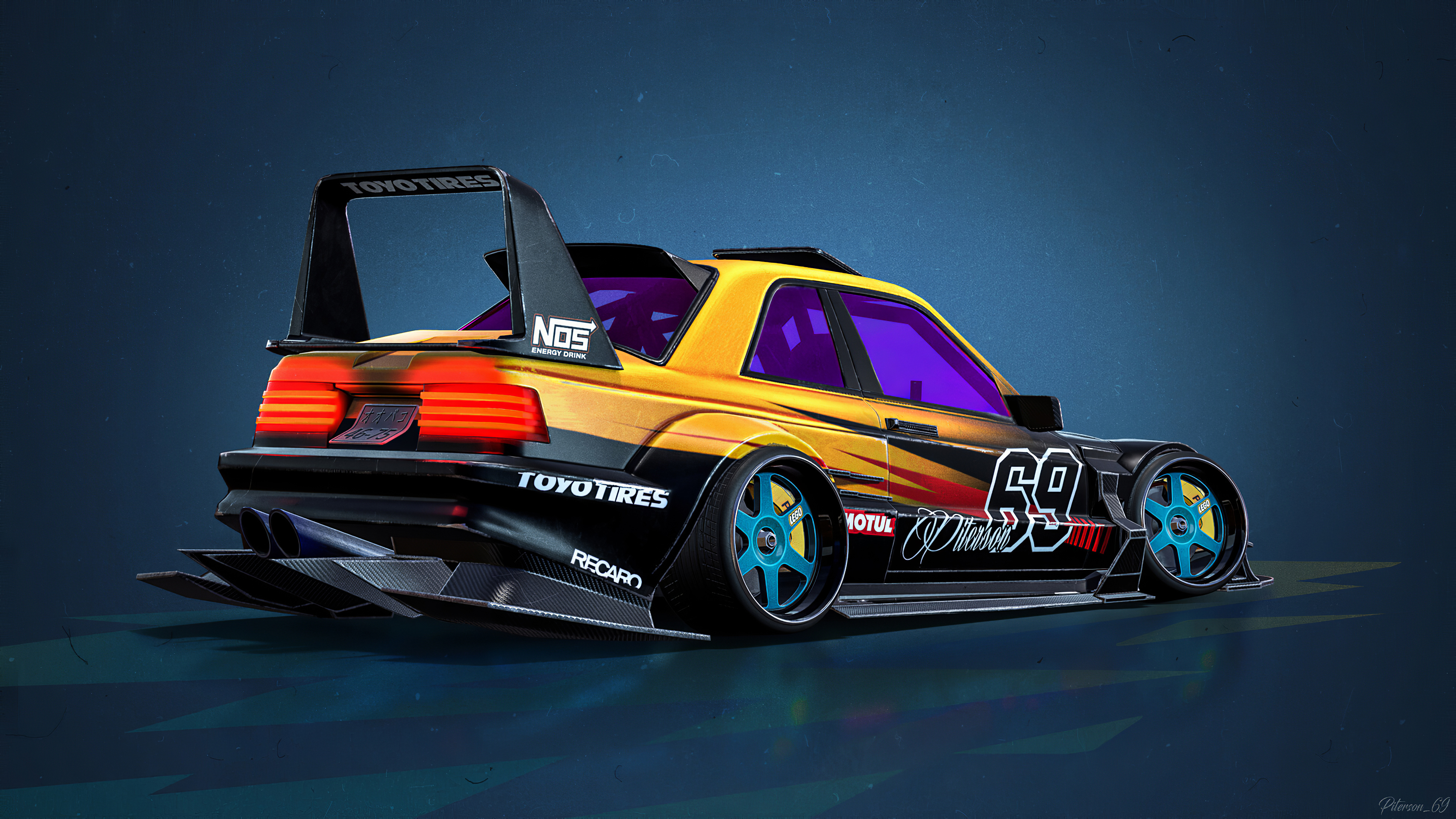 Mercedes Benz E190 Evolution Ii 1990 Cartoon Car Hd Artist 4k Wallpapers Images Backgrounds Photos And Pictures