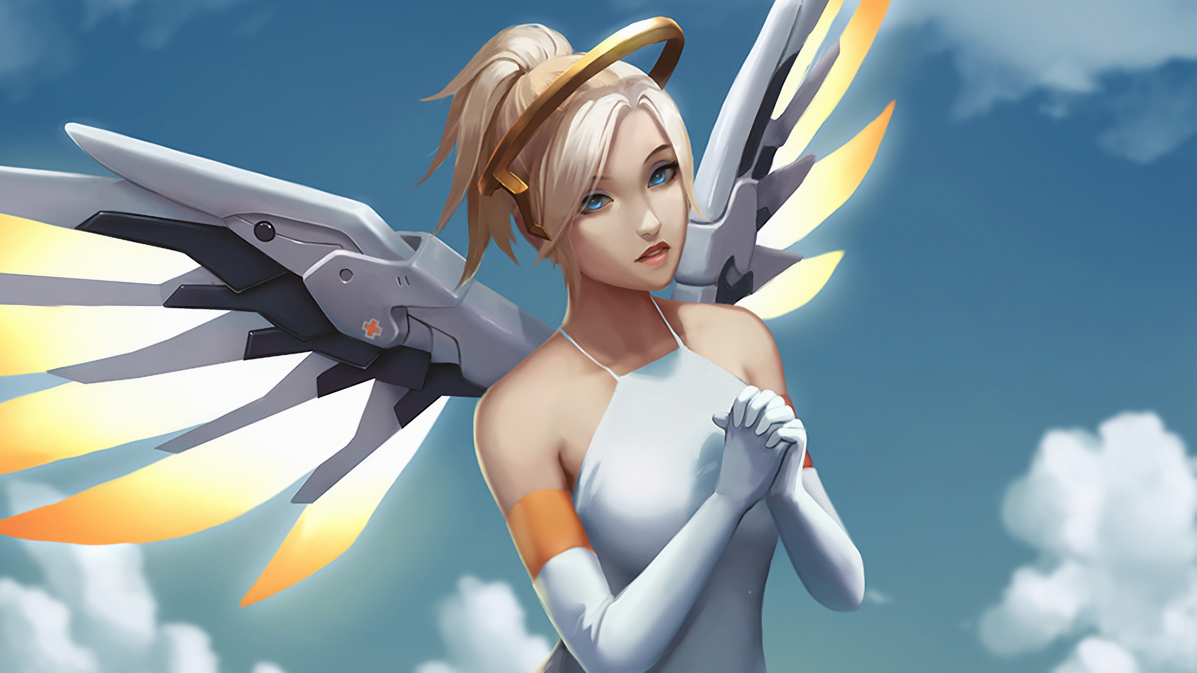 Mercy Overwatch Art 4k Hd Games 4k Wallpapers Images Backgrounds Photos And Pictures
