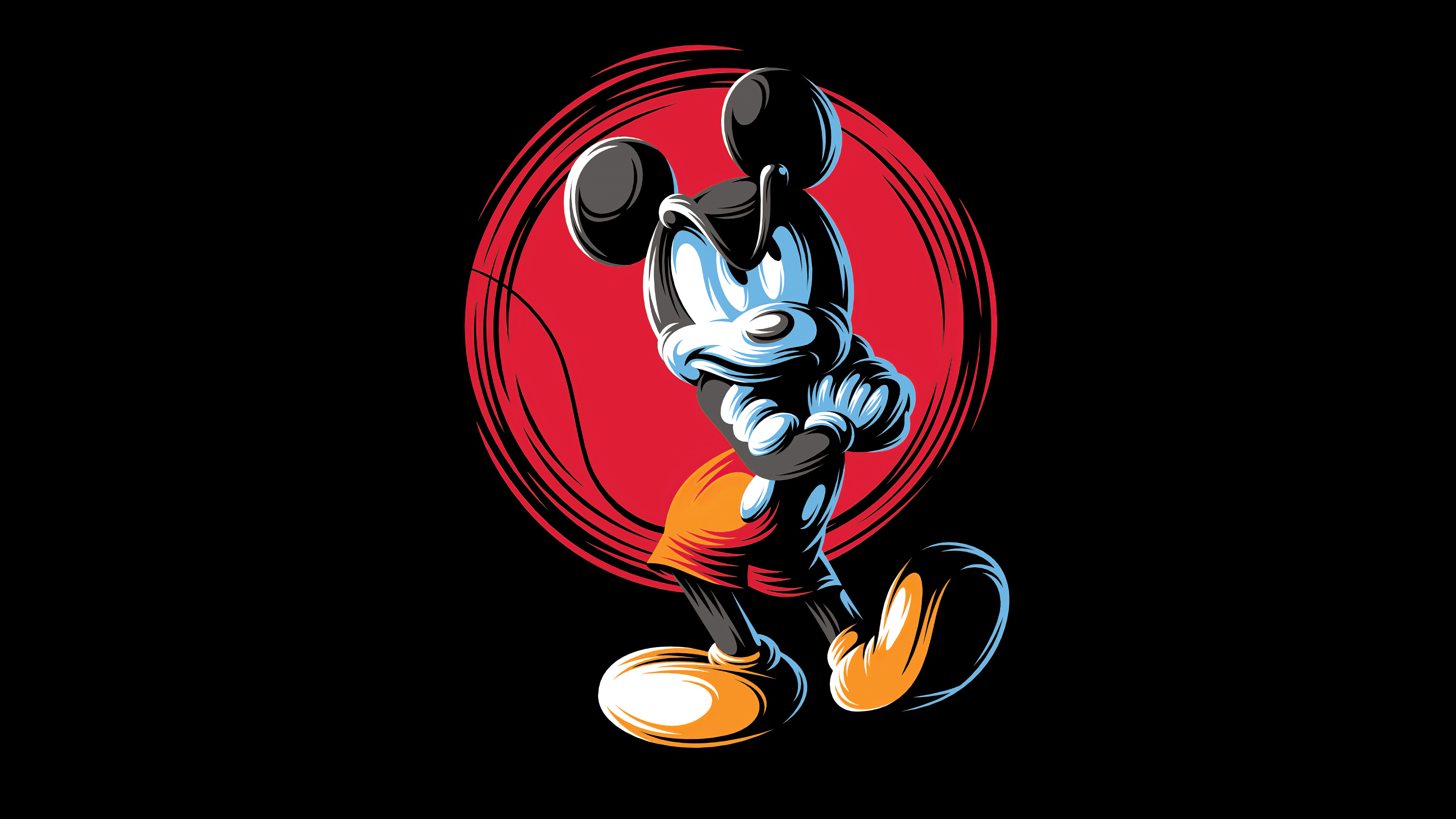 Mickey Mouse Minimal Art 4k Hd Cartoons 4k Wallpapers Images