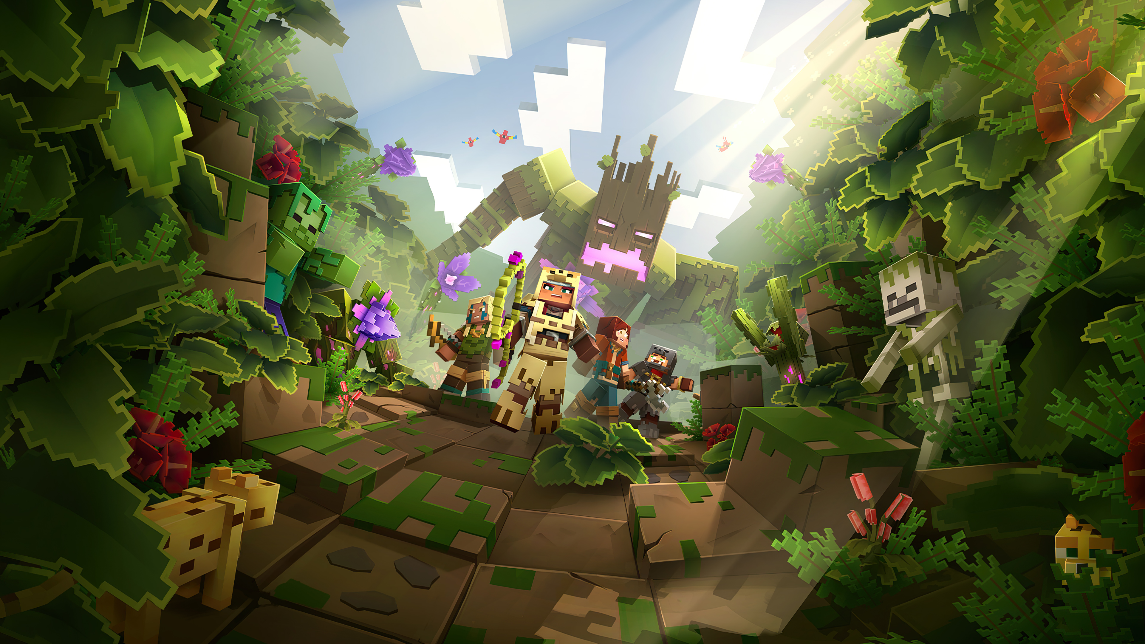 Minecraft Dungeons Jungle Awakens Hero Hd Games 4k Wallpapers Images Backgrounds Photos And Pictures