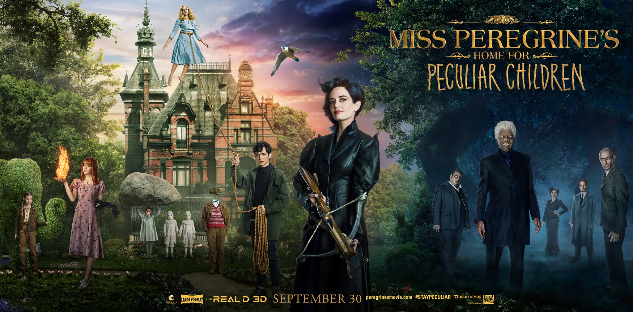 Miss Peregrines Home For Peculiar Children Original Poster Hd