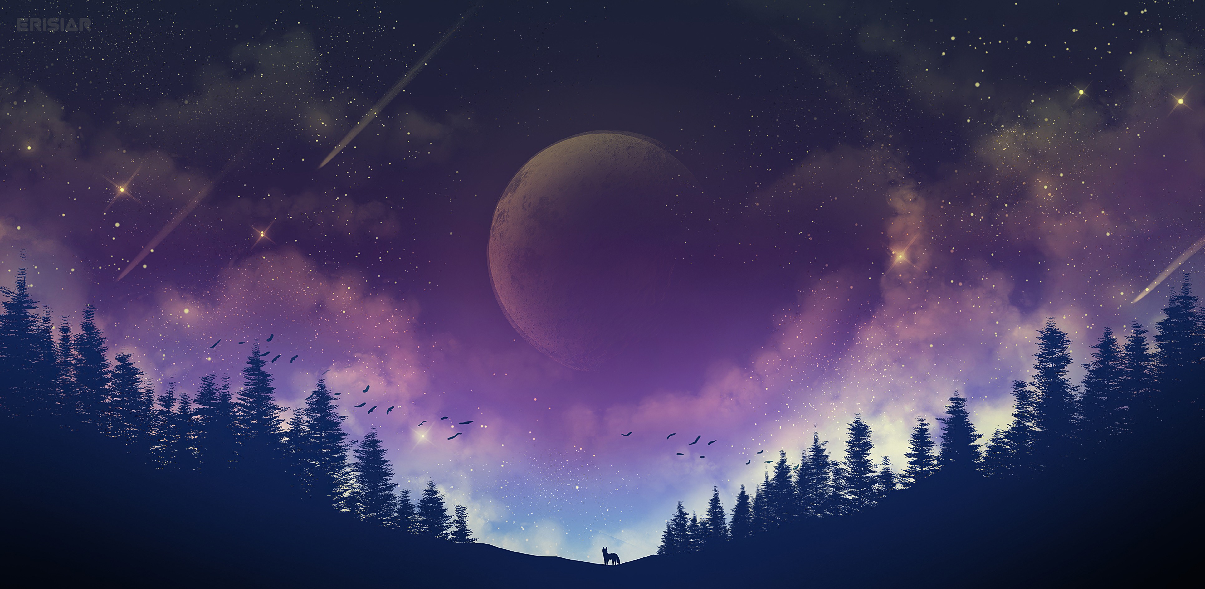 1920x1080 Moon Fox Galaxy 4k Laptop Full Hd 1080p Hd 4k Wallpapers Images Backgrounds Photos And Pictures