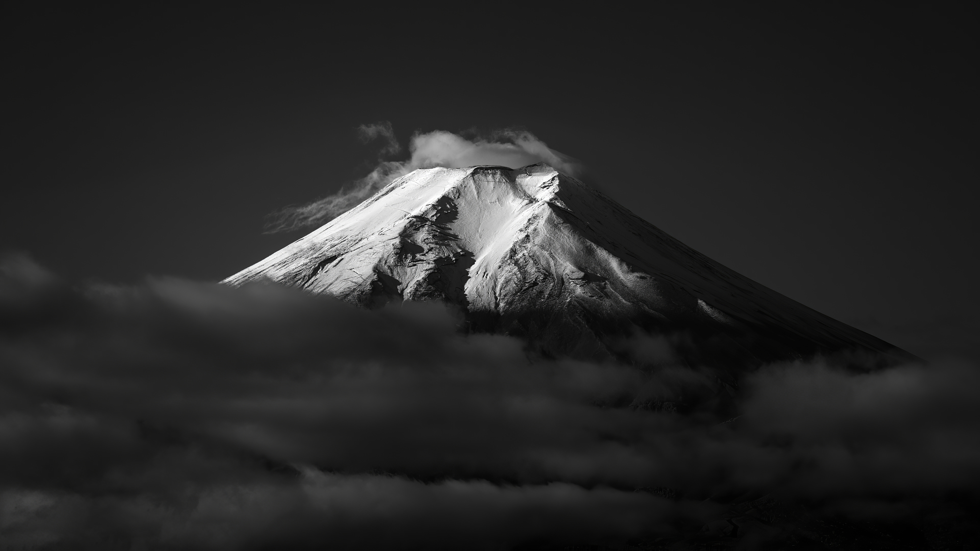 1920x1080 Mount Fuji Monochrome Laptop Full HD 1080P HD 4k ...