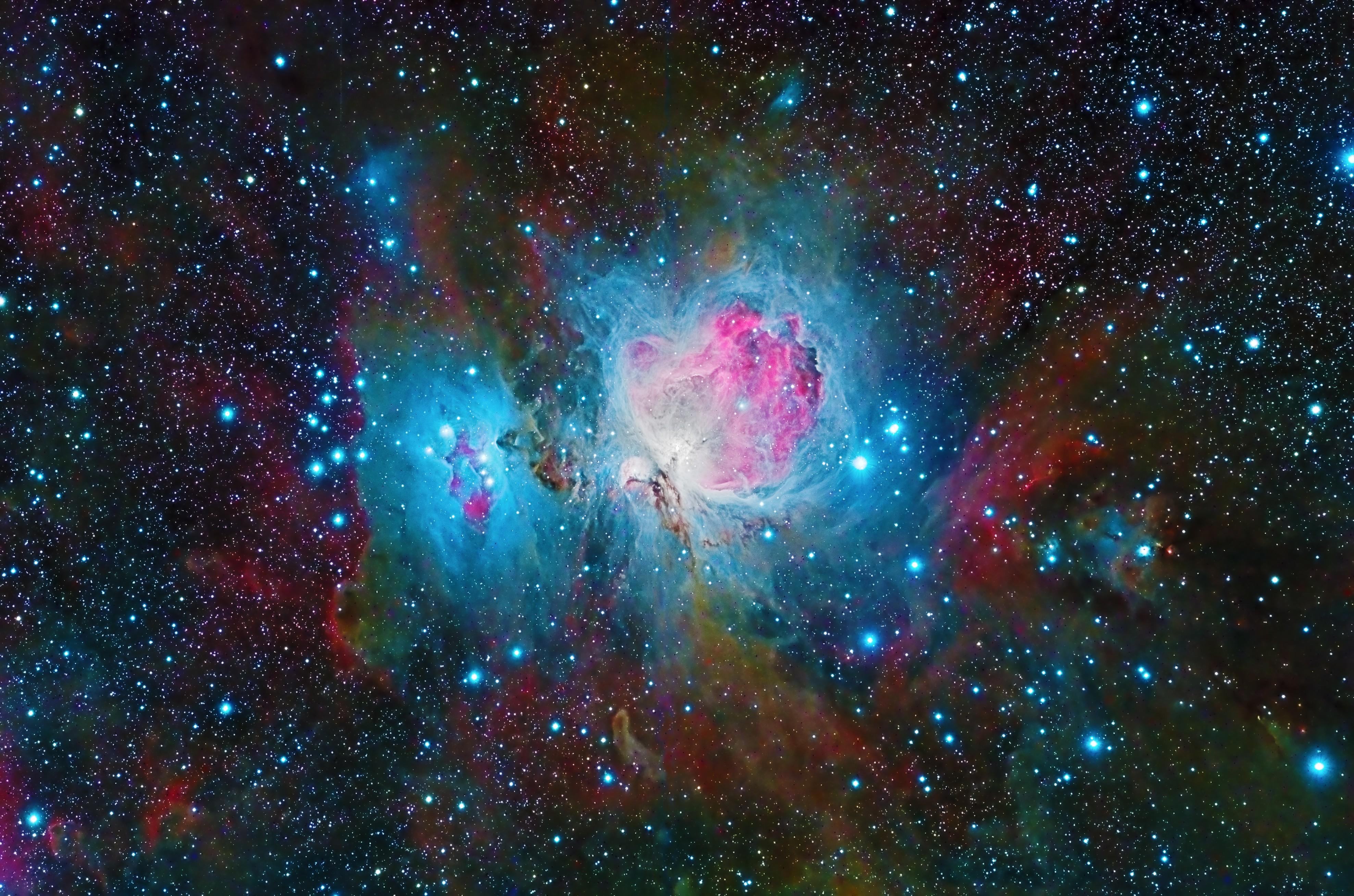 nebula space galaxy colorful 4k f7