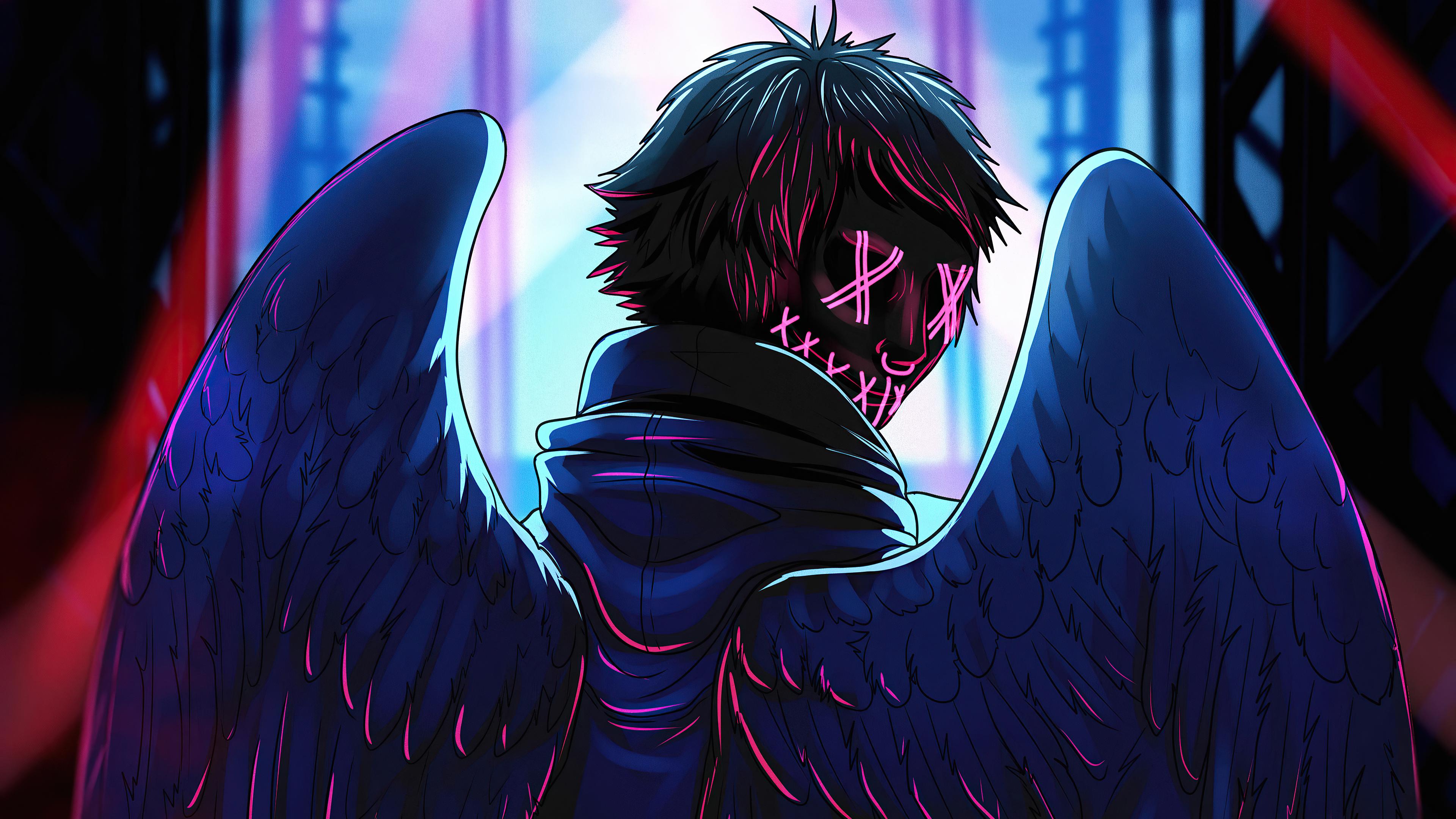 Neon Angel Boy 4k, HD Artist, 4k Wallpapers, Images ...
