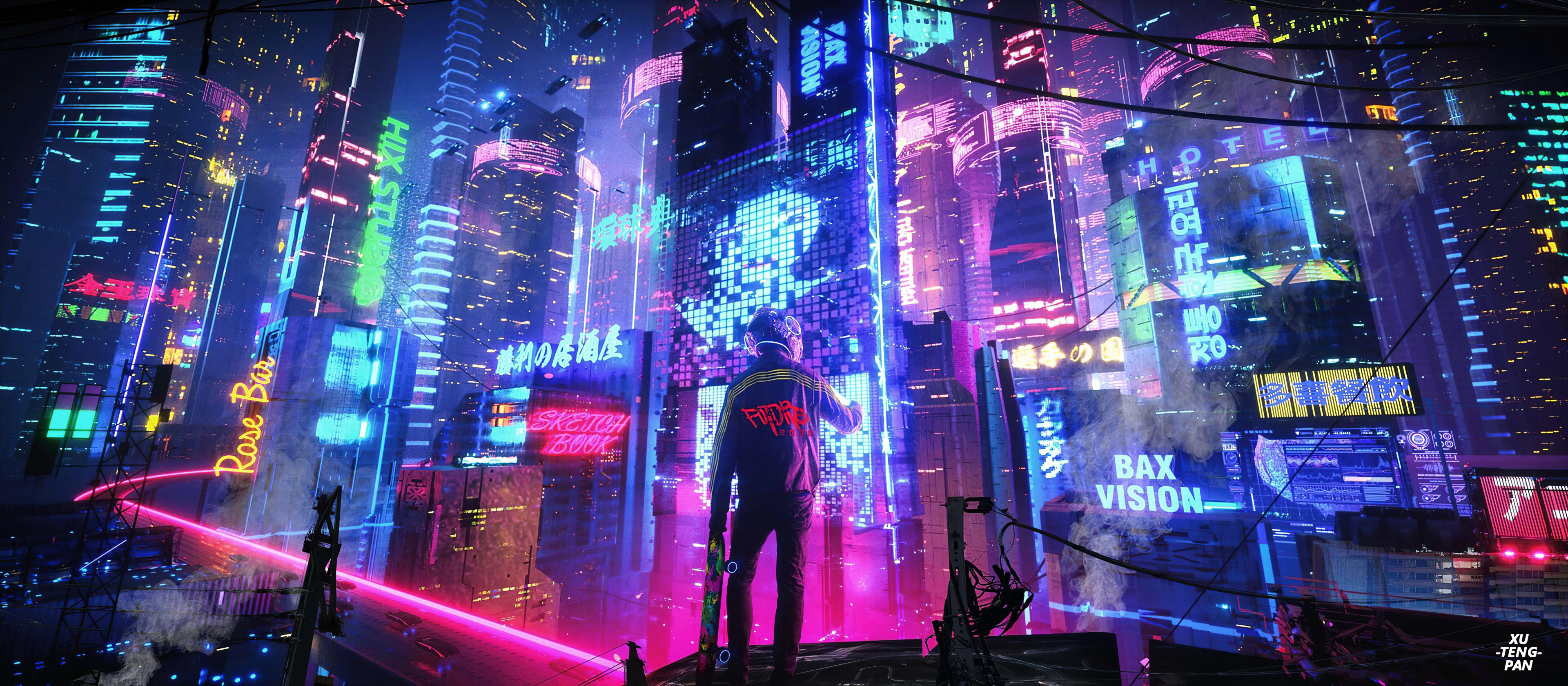 Neon City Pan 4k Hd Artist 4k Wallpapers Images Backgrounds Photos And Pictures