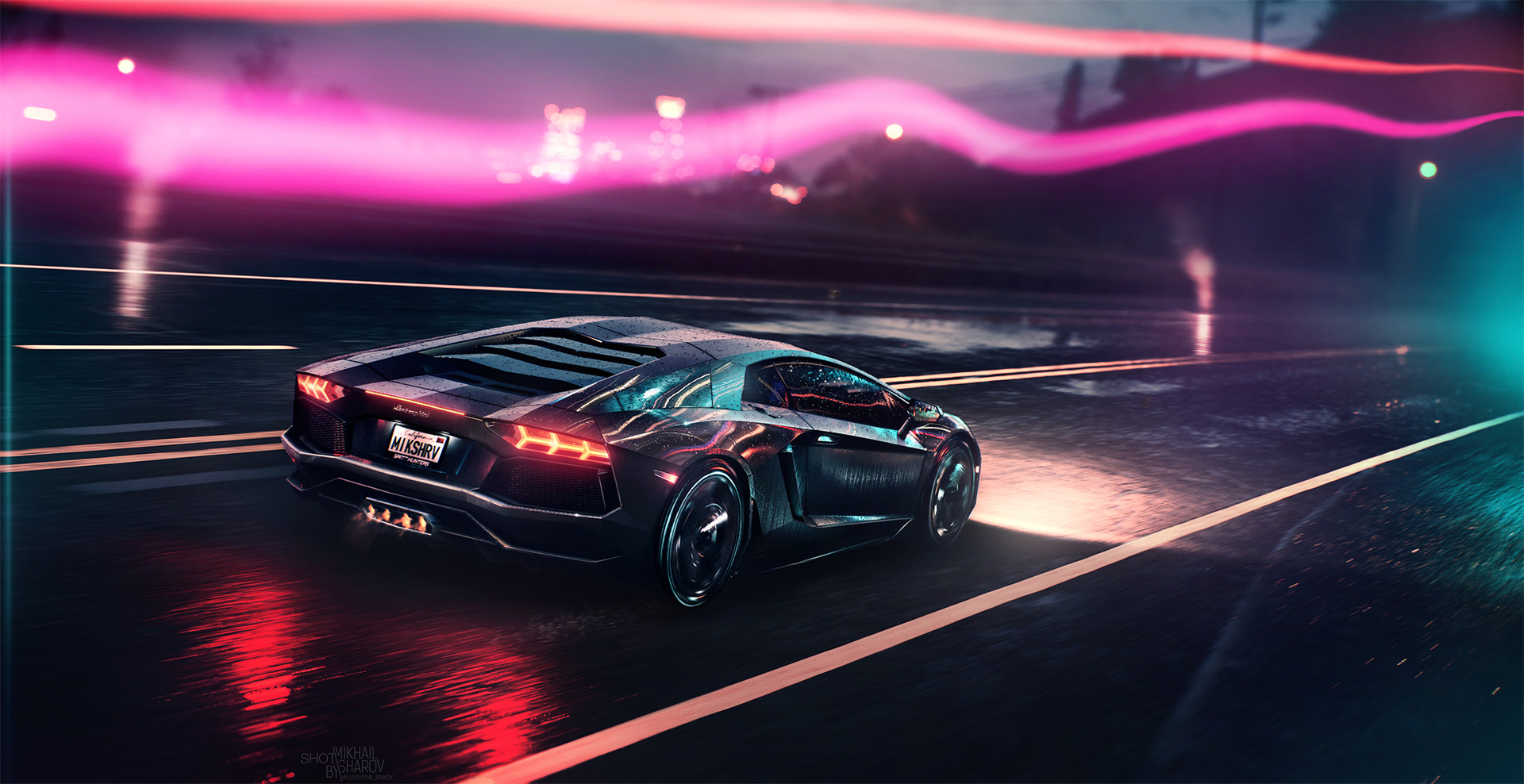 Neon Demon Lamborghini Hd Cars 4k Wallpapers Images Backgrounds Photos And Pictures