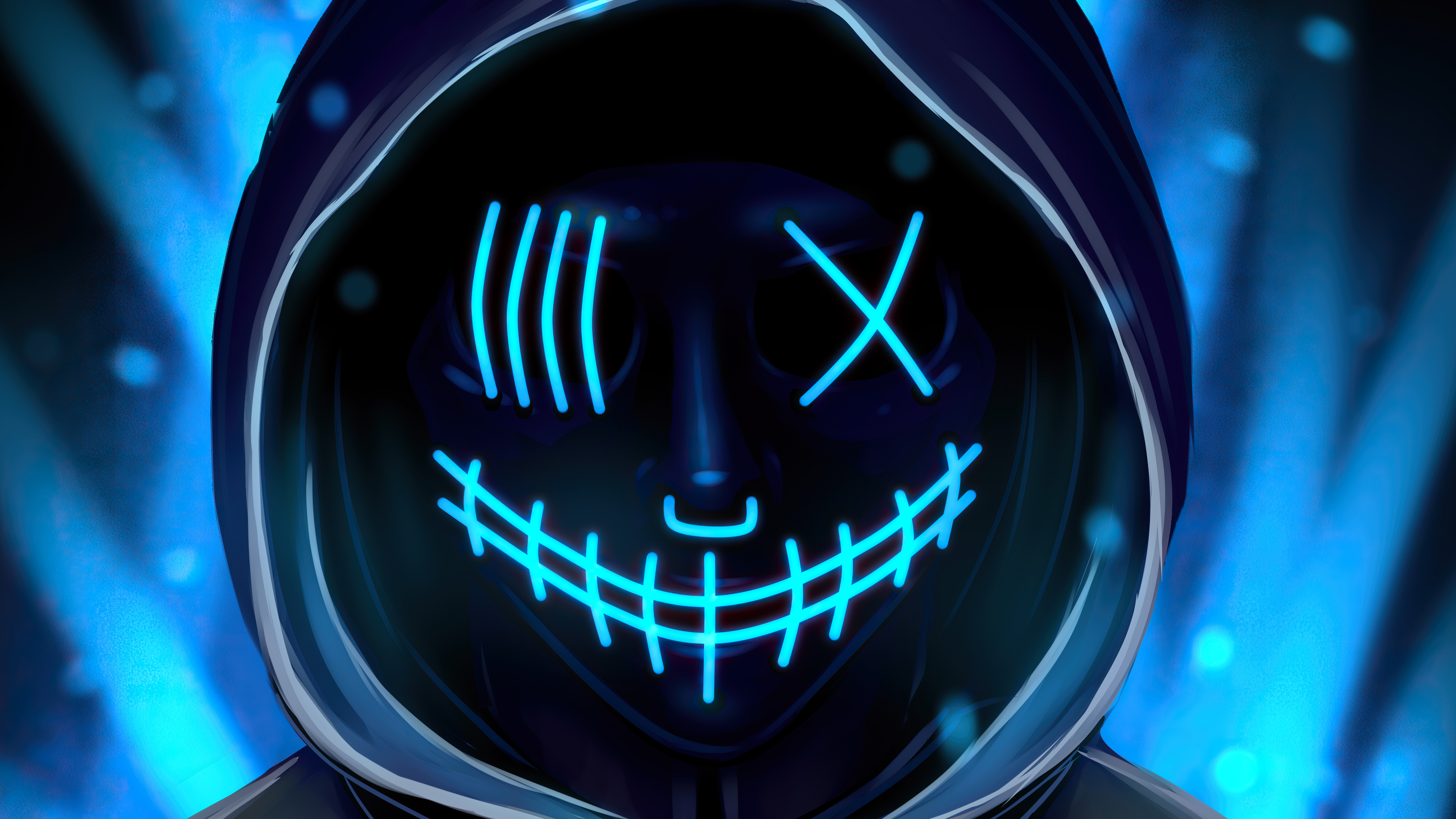 Neon Mask 4k Hd Artist 4k Wallpapers Images Backgrounds Photos And Pictures