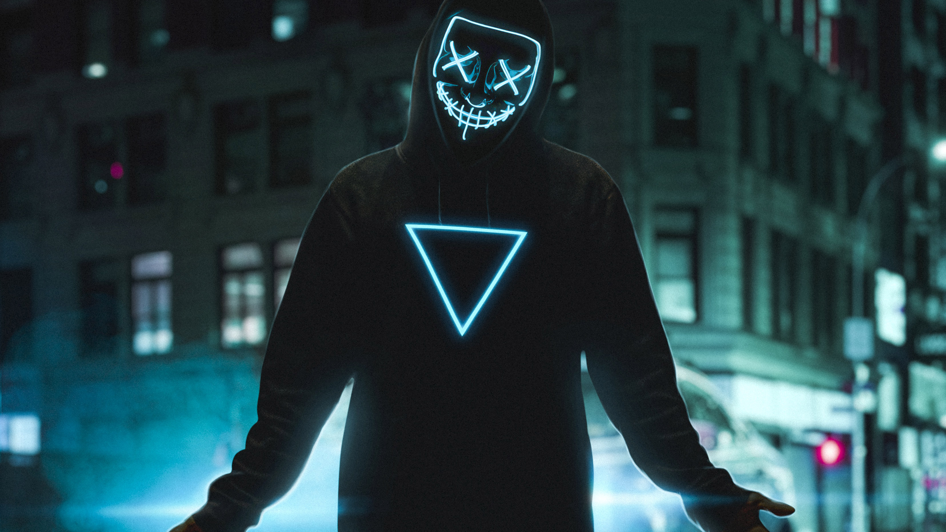 1920x1080 Neon Mask Boy 4k Laptop Full Hd 1080p Hd 4k Wallpapers Images Backgrounds Photos And Pictures