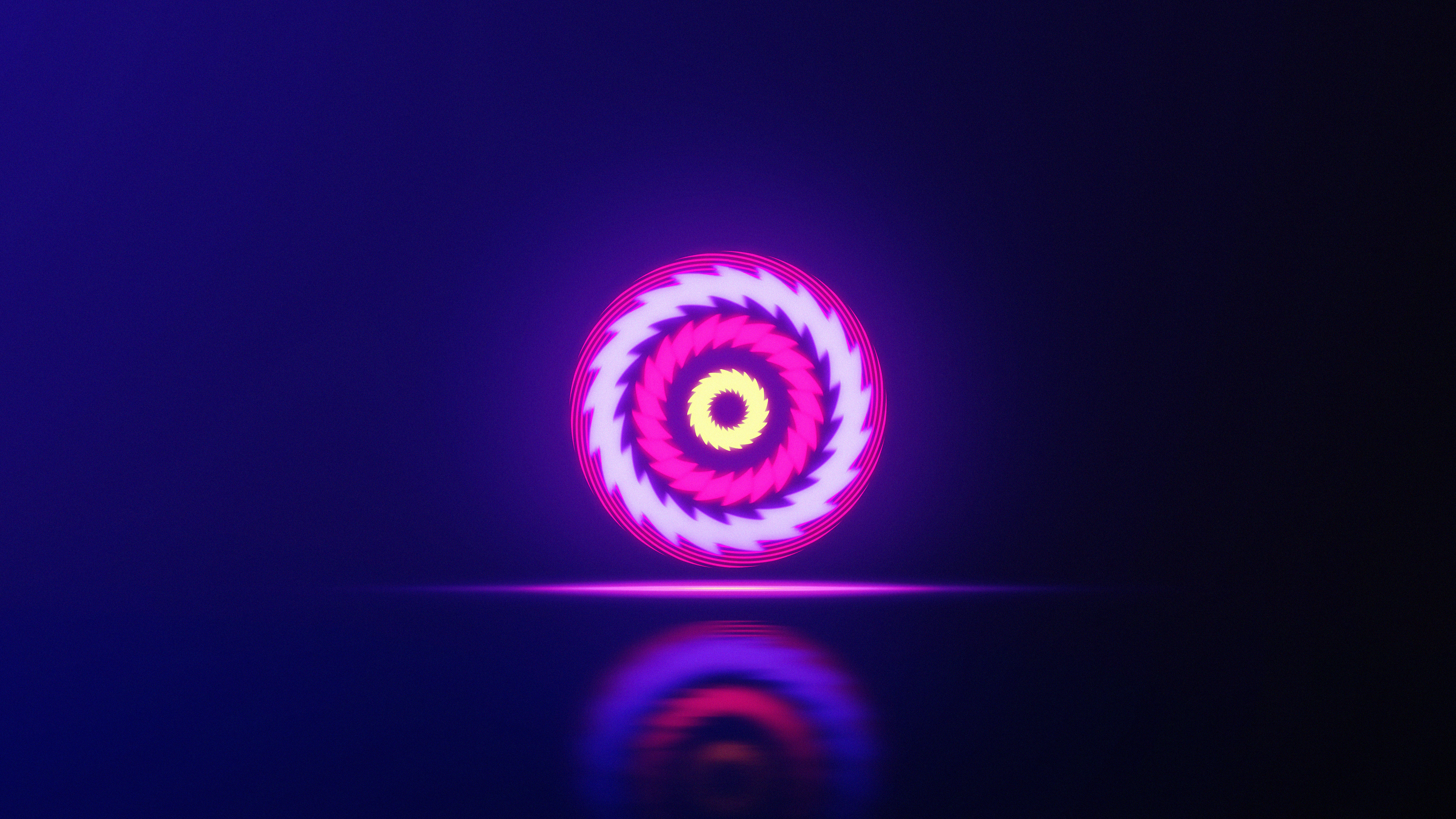 neon sphere abstract 4k cr