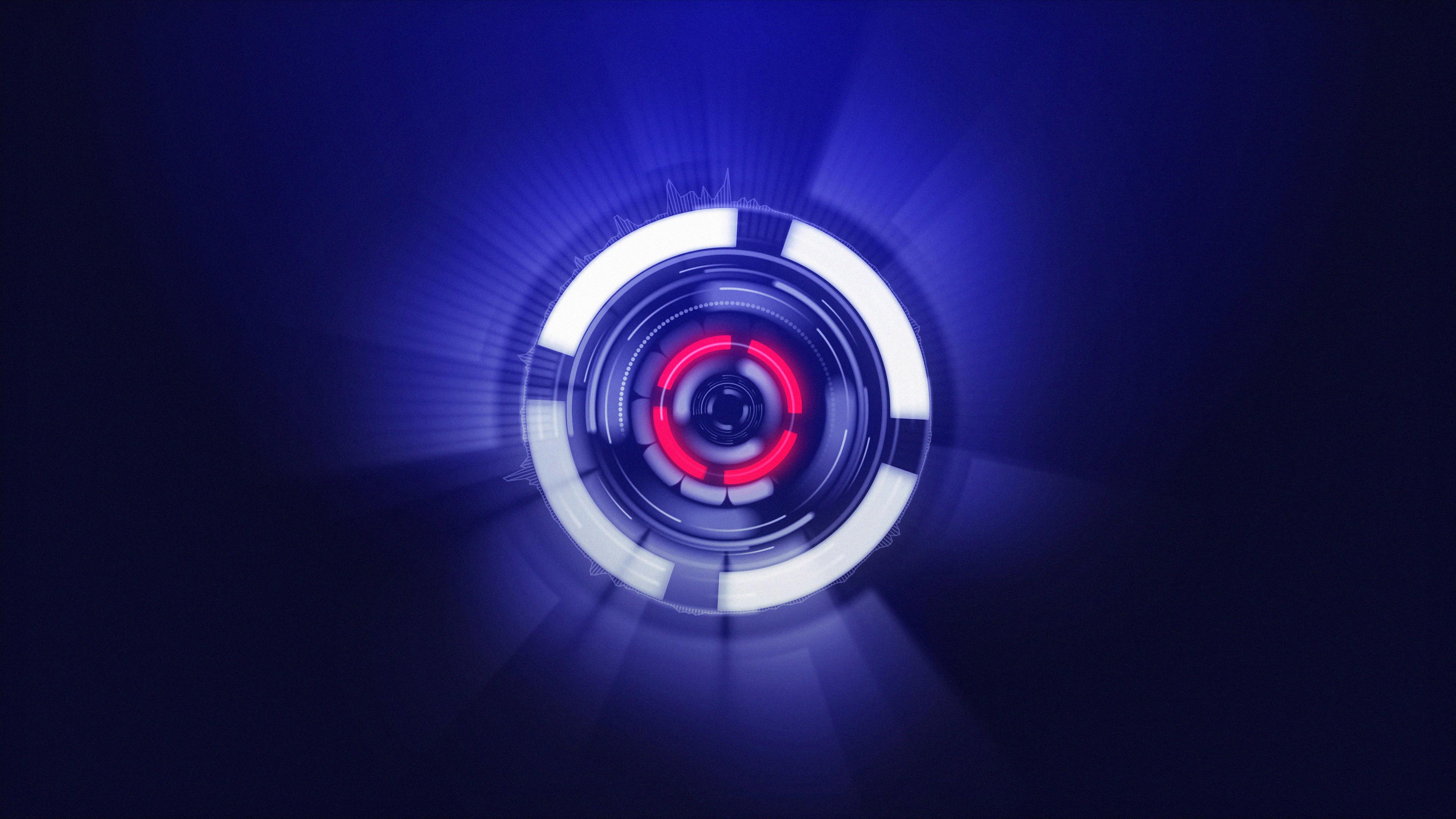 neon sphere red blue purple 4k sb